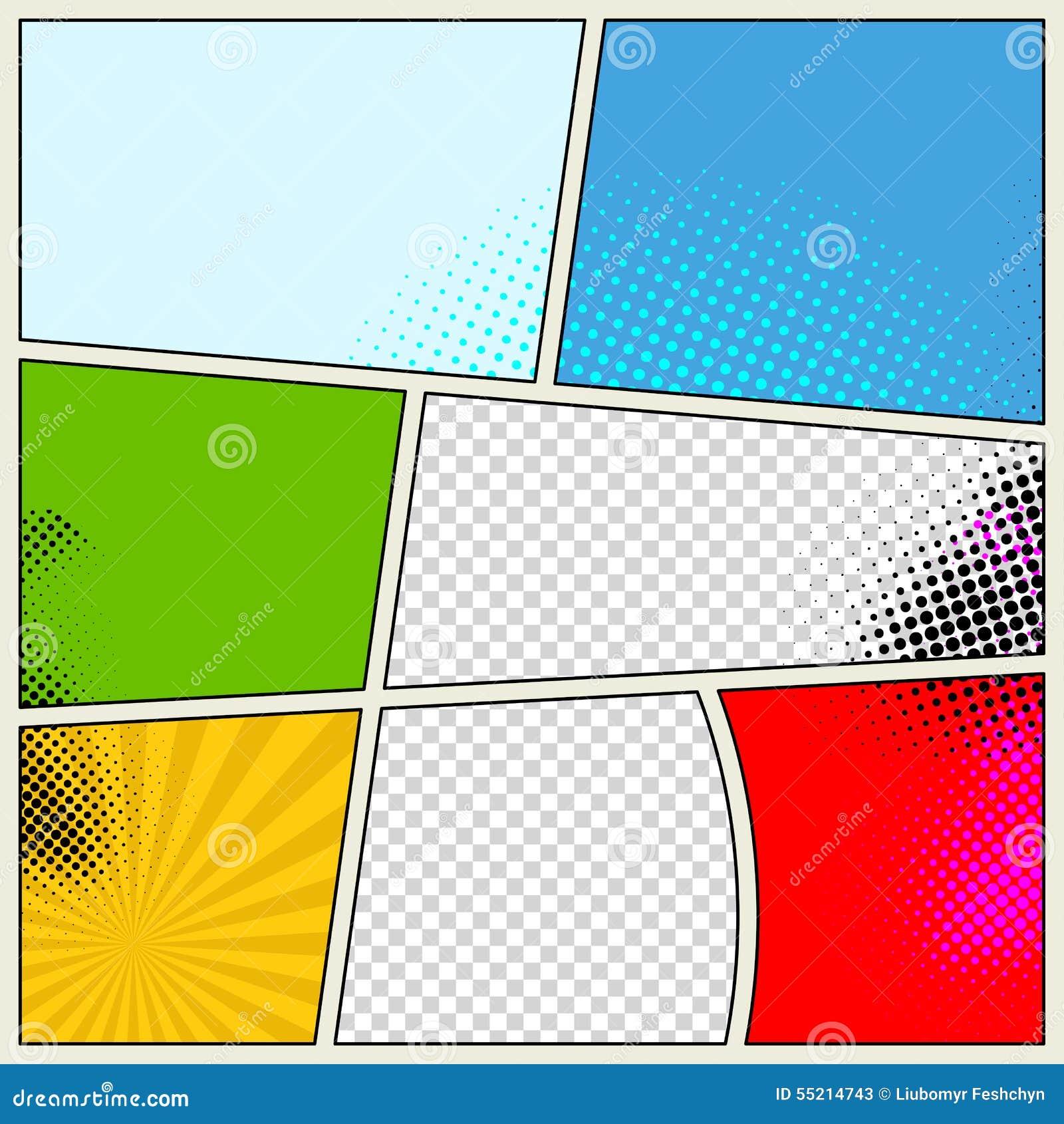 Retro Comic Book Vector Background Stock Vector Image