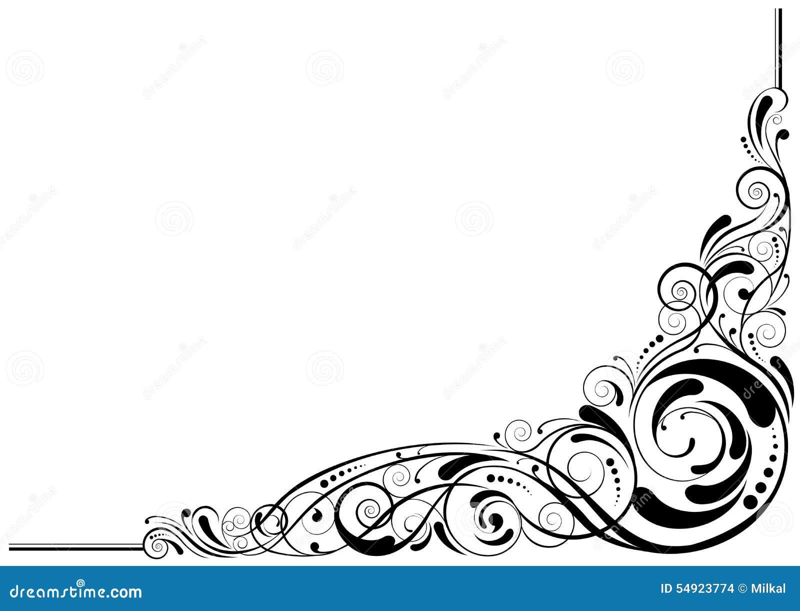 retro corner design stock vector illustration of color