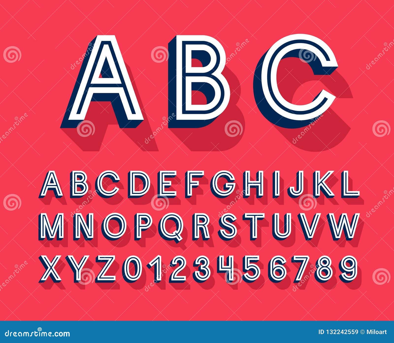 Retro creative alphabet