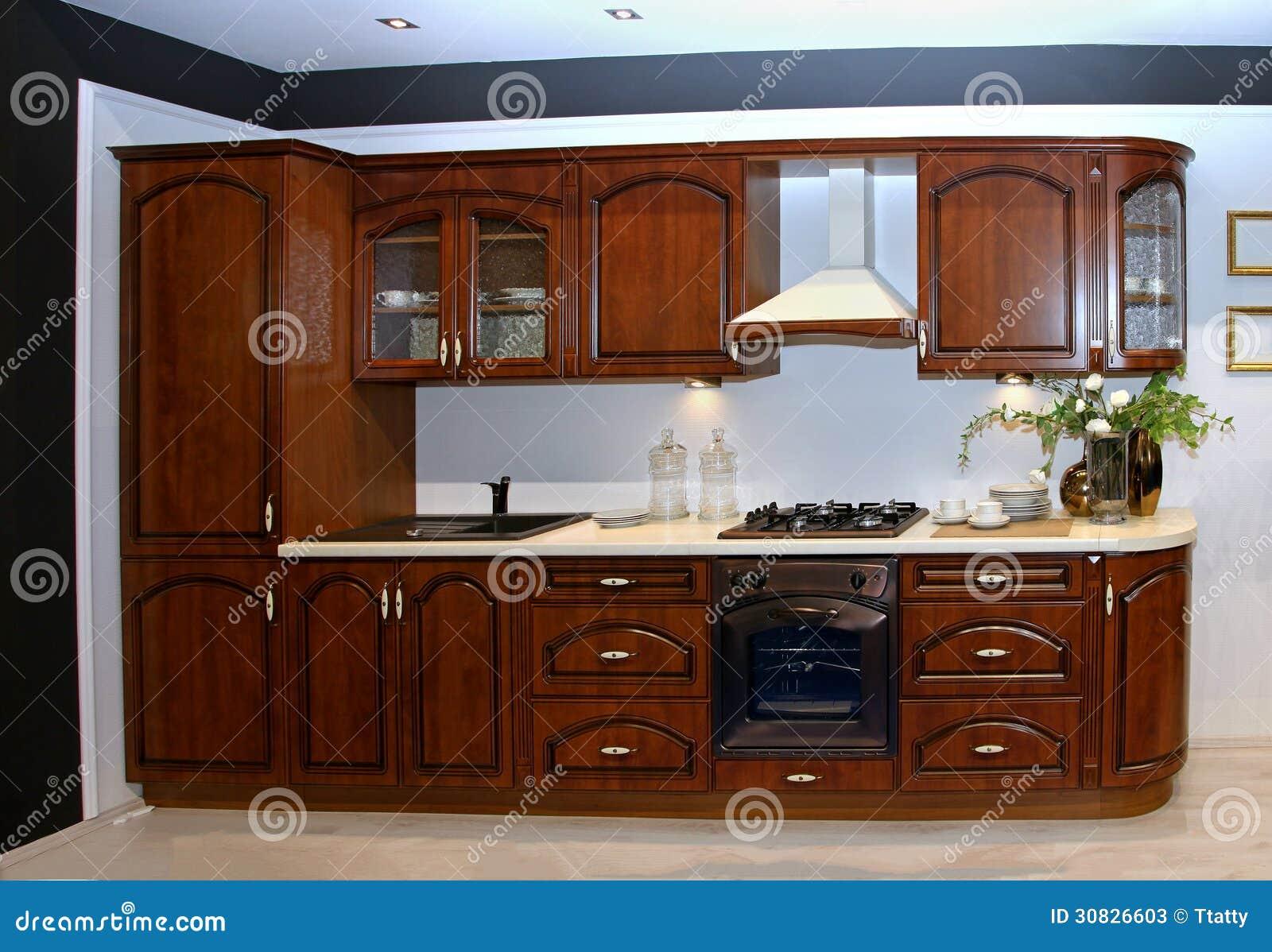 Retro cucina di legno