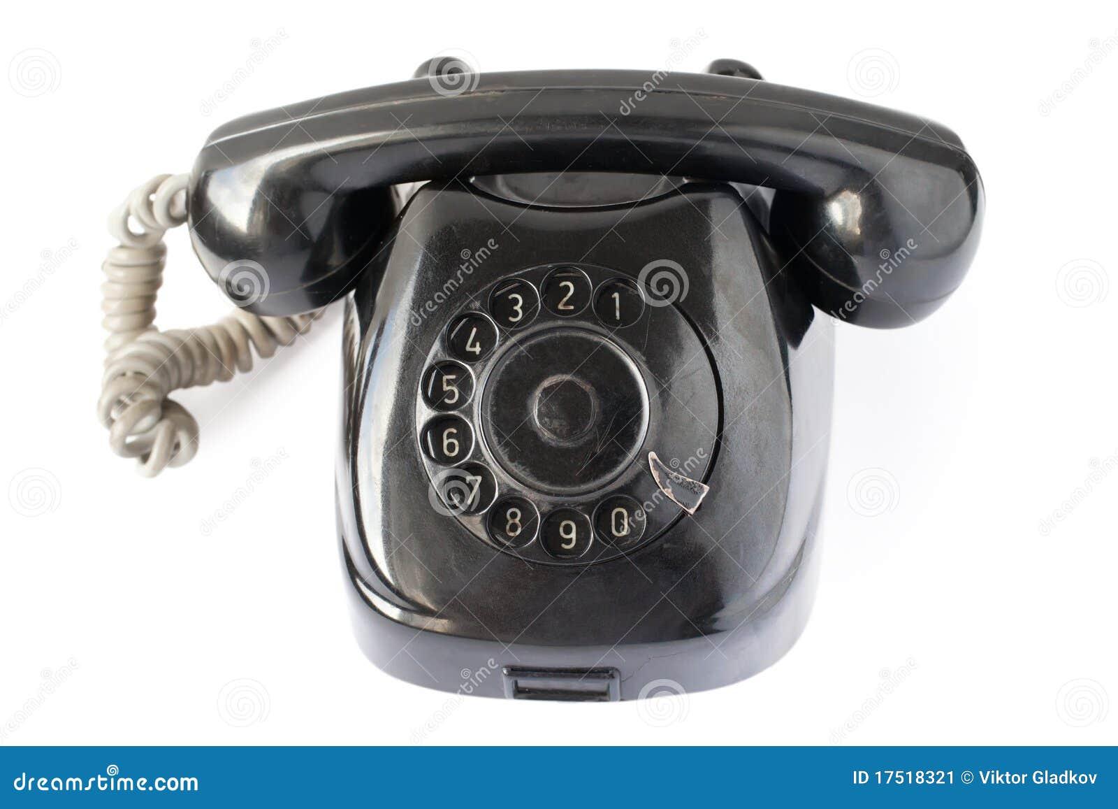 Retro czarny telefon