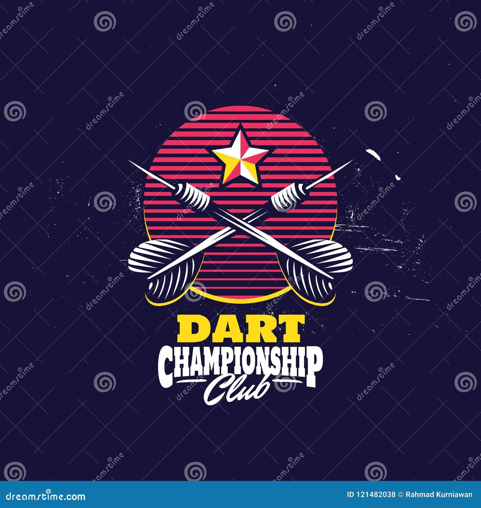 Retro Dart Badge Logo