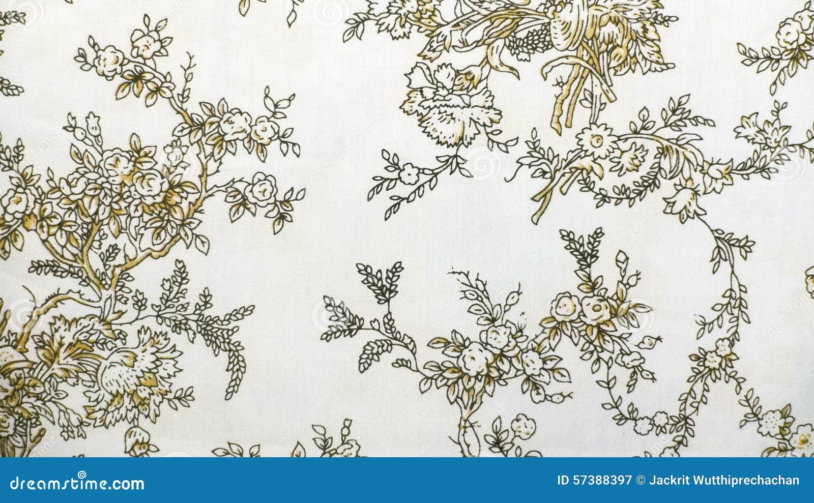 Retro de Stoffen van het Kant Bloemen Naadloze Patroon Bruine Uitstekende Stijl Als achtergrond