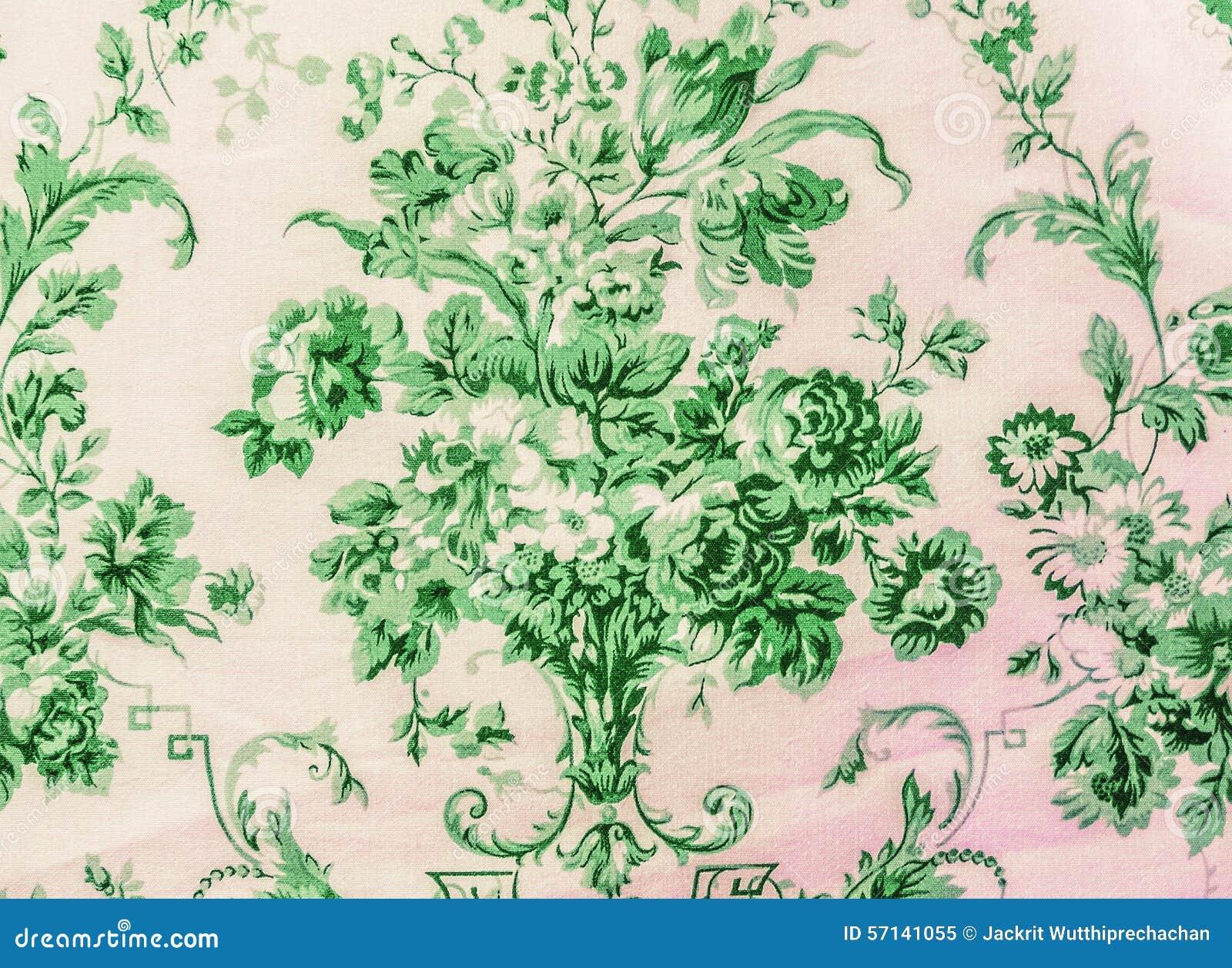 Vintage Stoffen Tassen : Retro de stoffen van het kant bloemen naadloze patroon