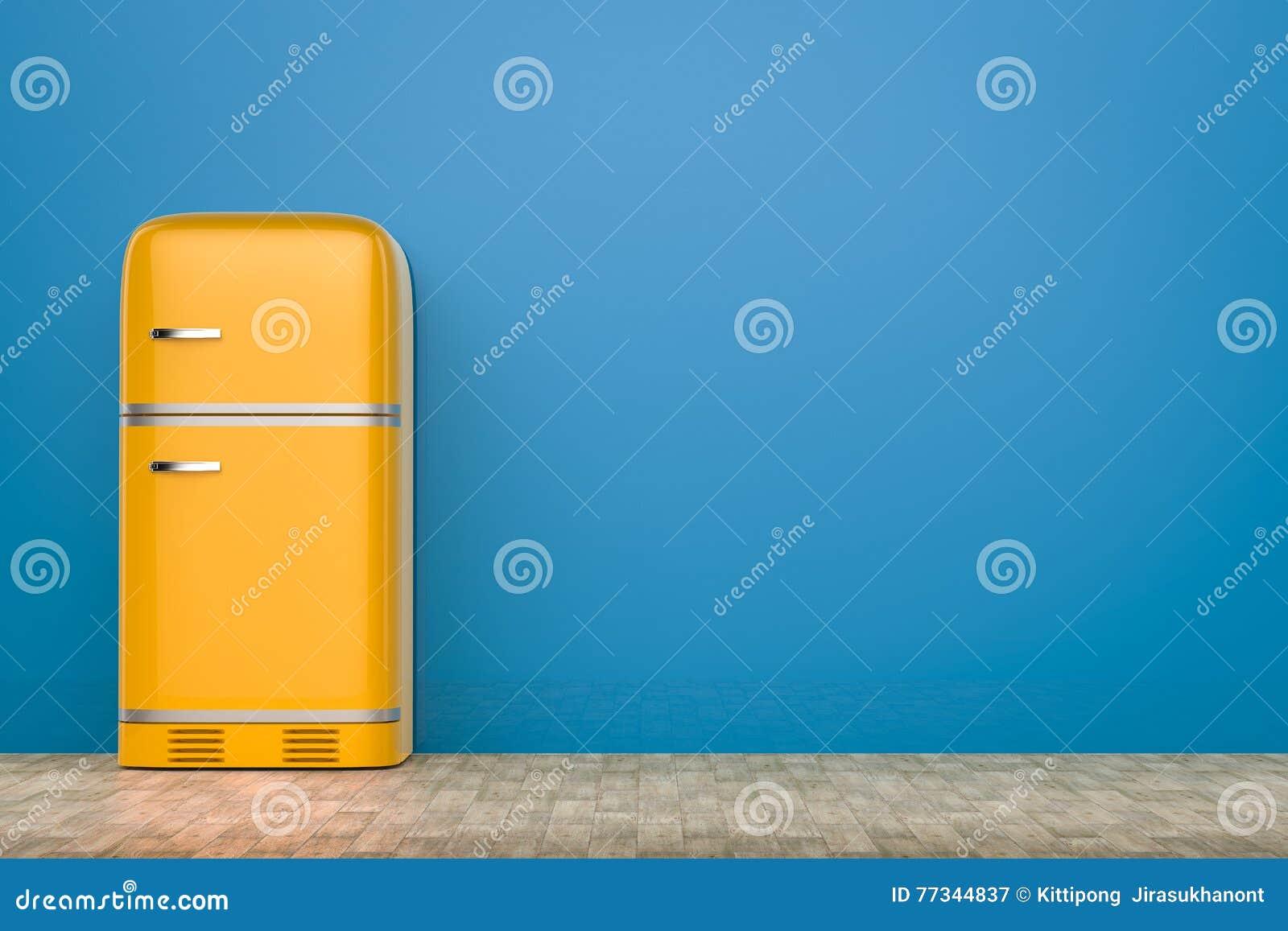 Retro Kühlschrank Blau : Retro designkühlschrank stock abbildung. illustration von blau