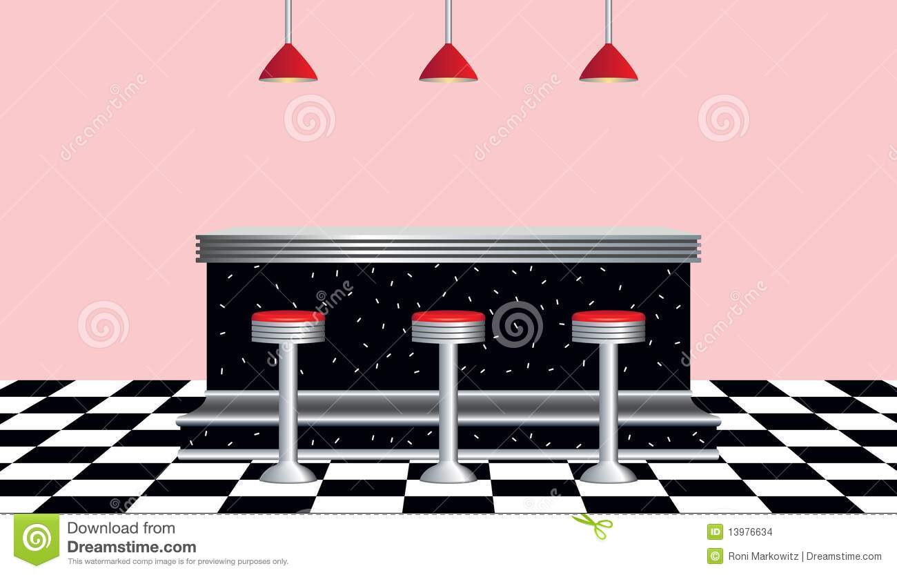 Retro Diner 1950s Style Stock Vector Illustration Of