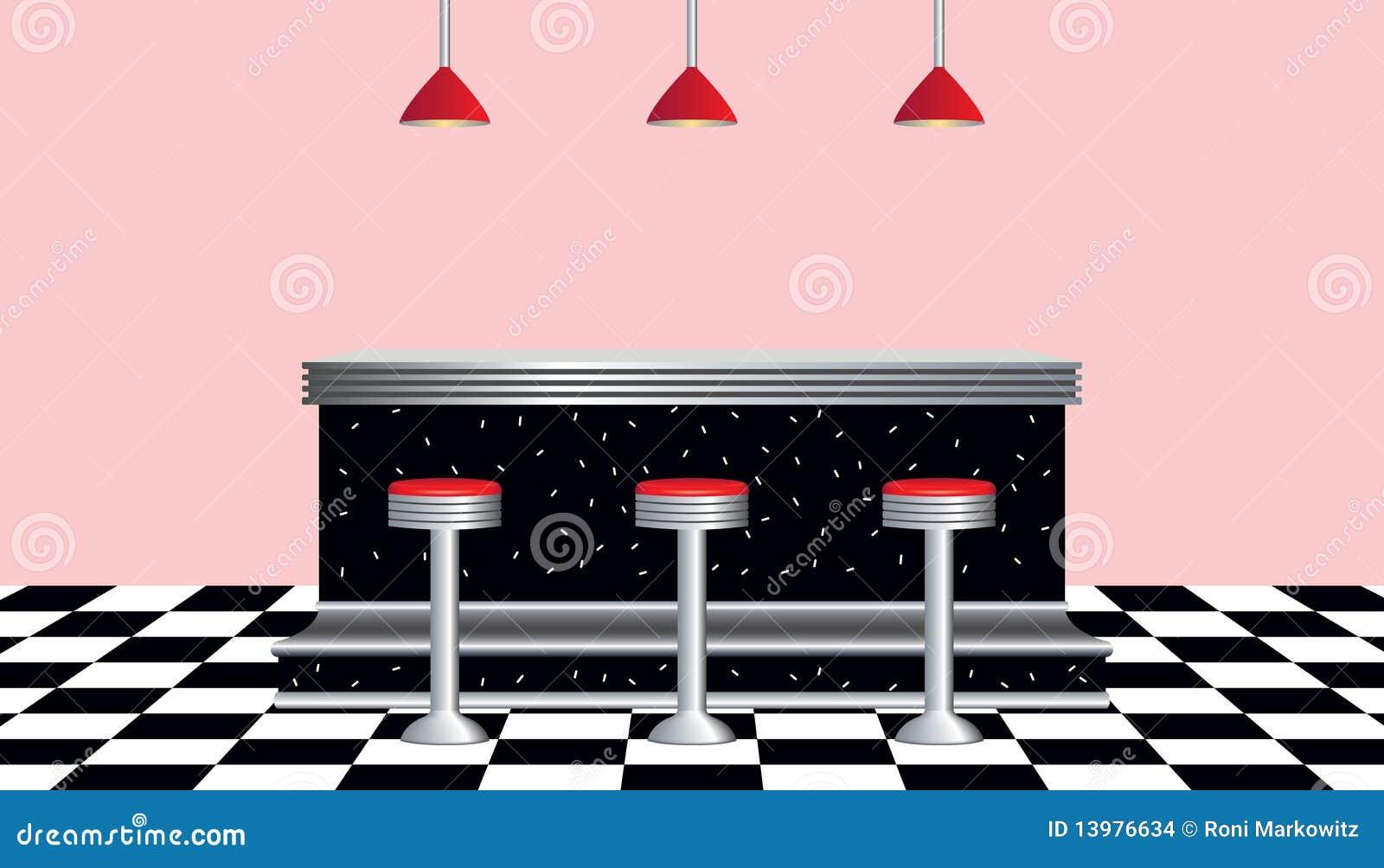 Retro Diner 1950s Style Stock Vector Image Of Retro