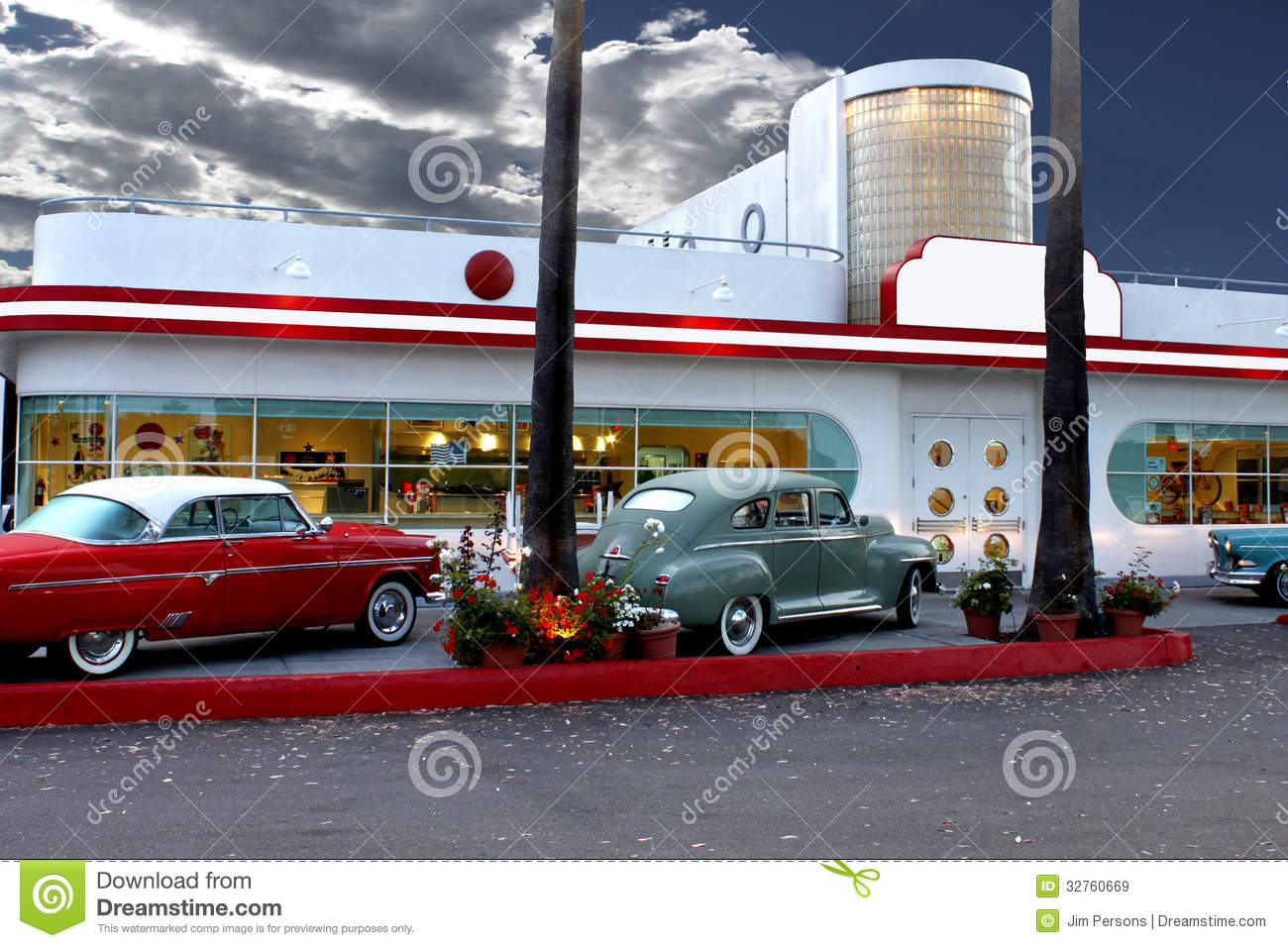 Retro diner in laguna beach stock image image of for 50 s diner exterior