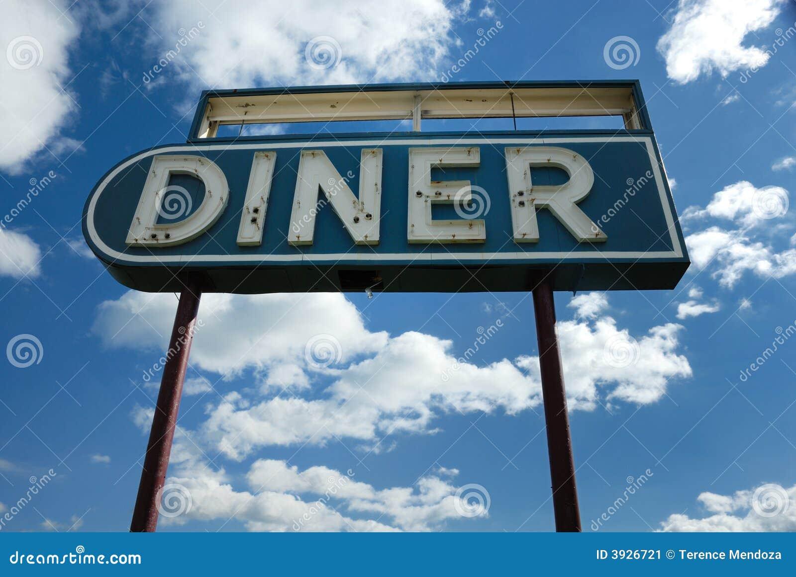 Retro Diner Sign Stock Image Of Memorabilia