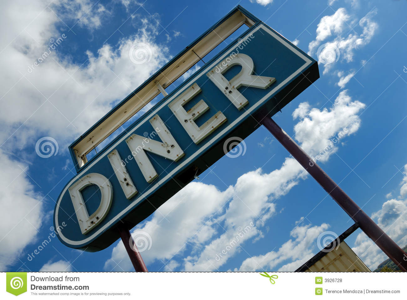 Retro Diner Sign Royalty Free Stock Photos - Image: 3926728