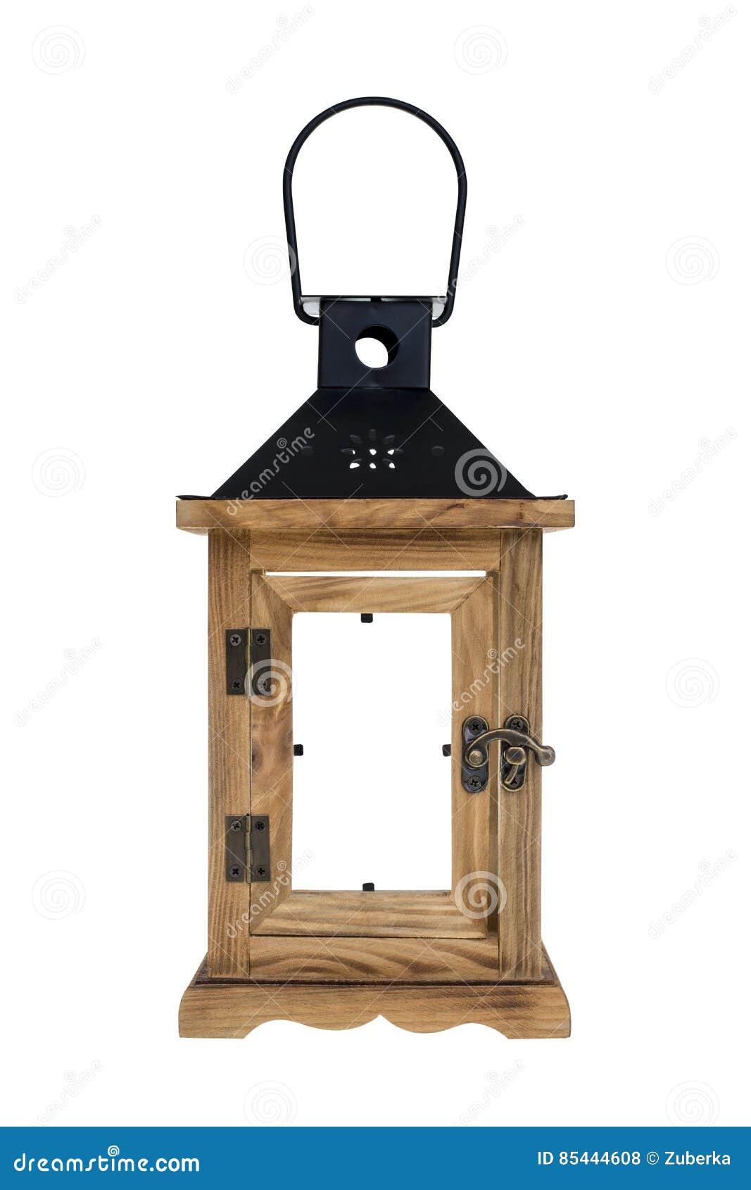 Retro Drewniany lampion