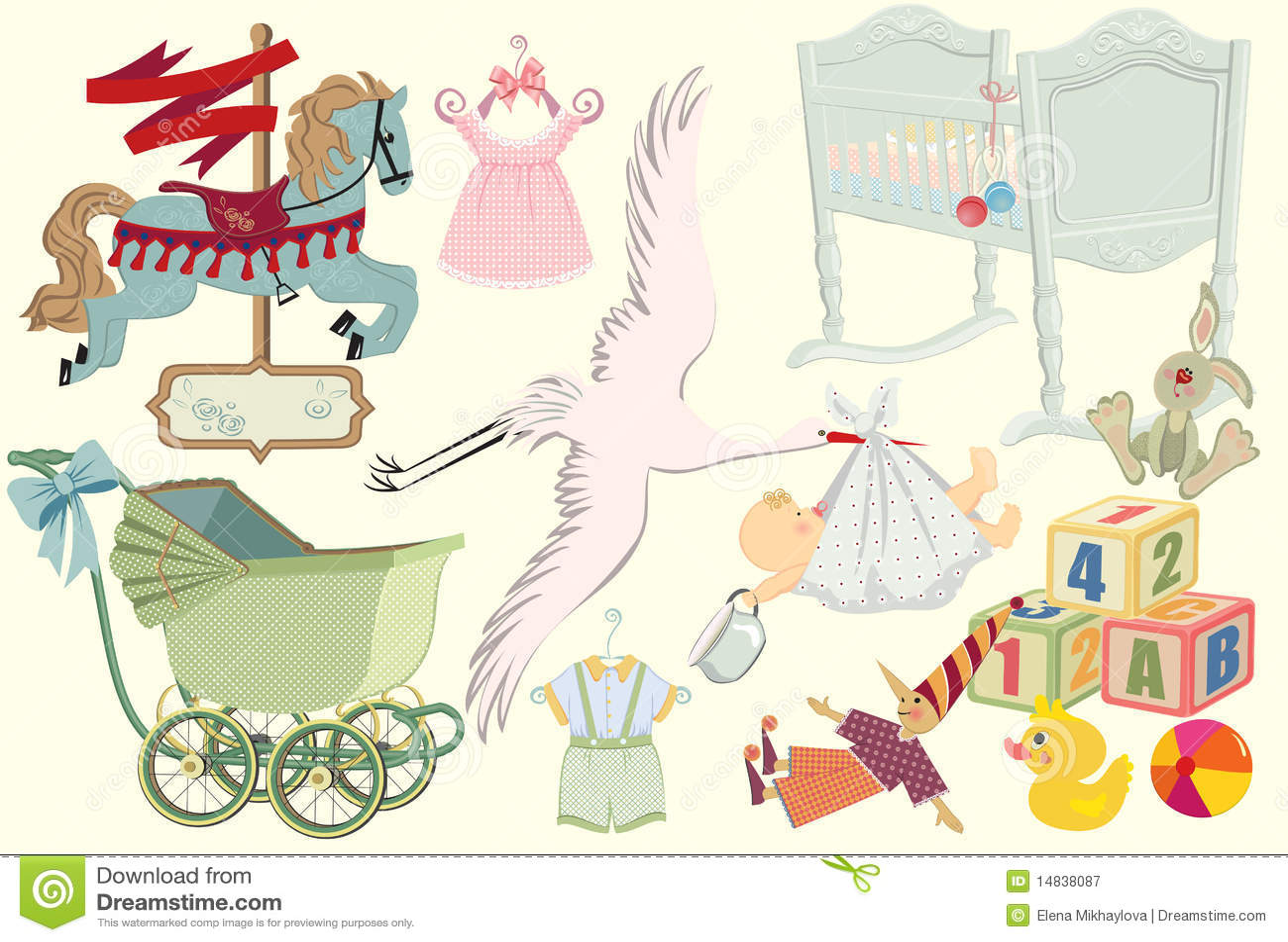 Retro dziecko kolekcja