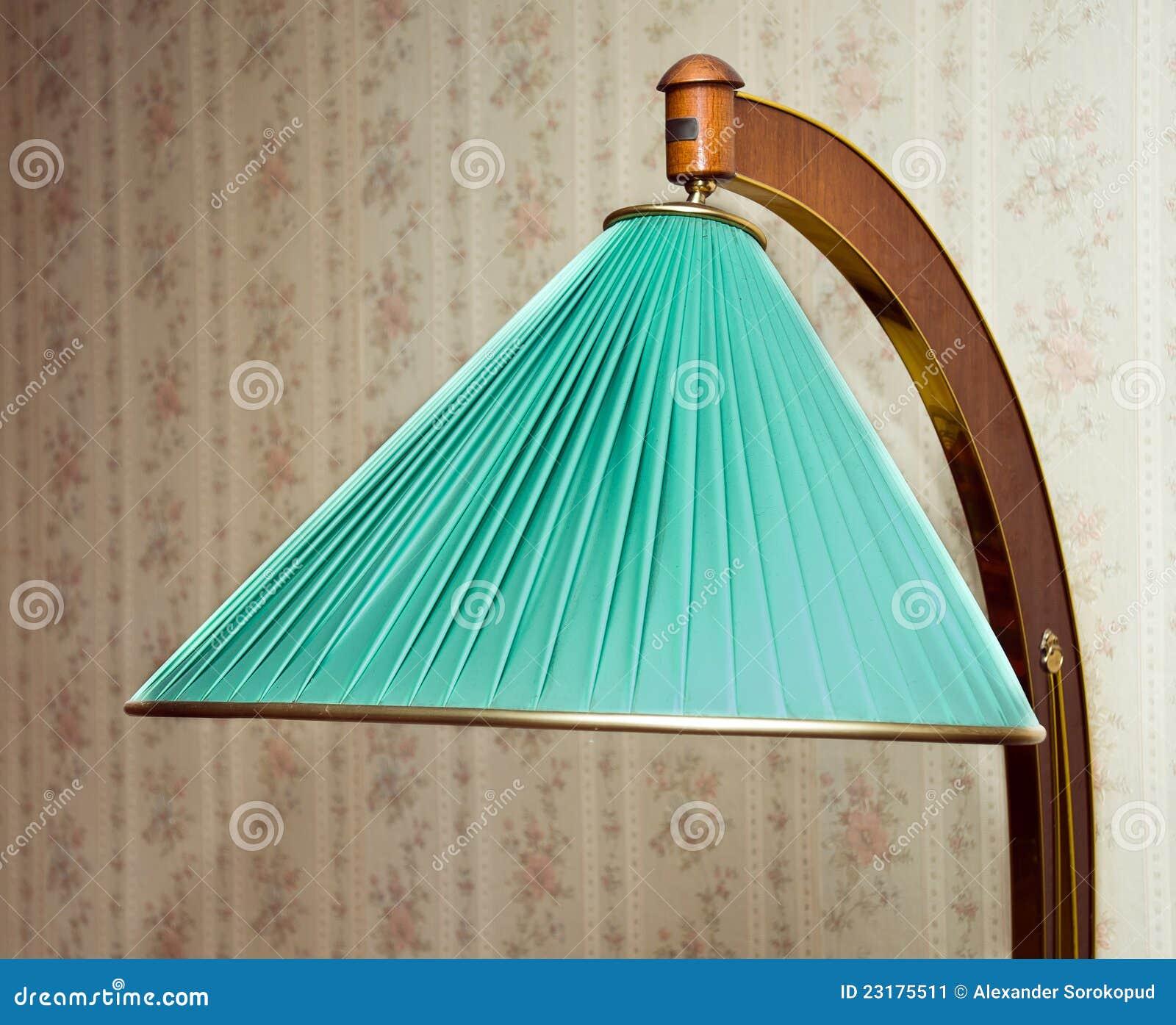 Retro Elektrische Fussbodenlampe Stockbild Bild Von Wand Lampe