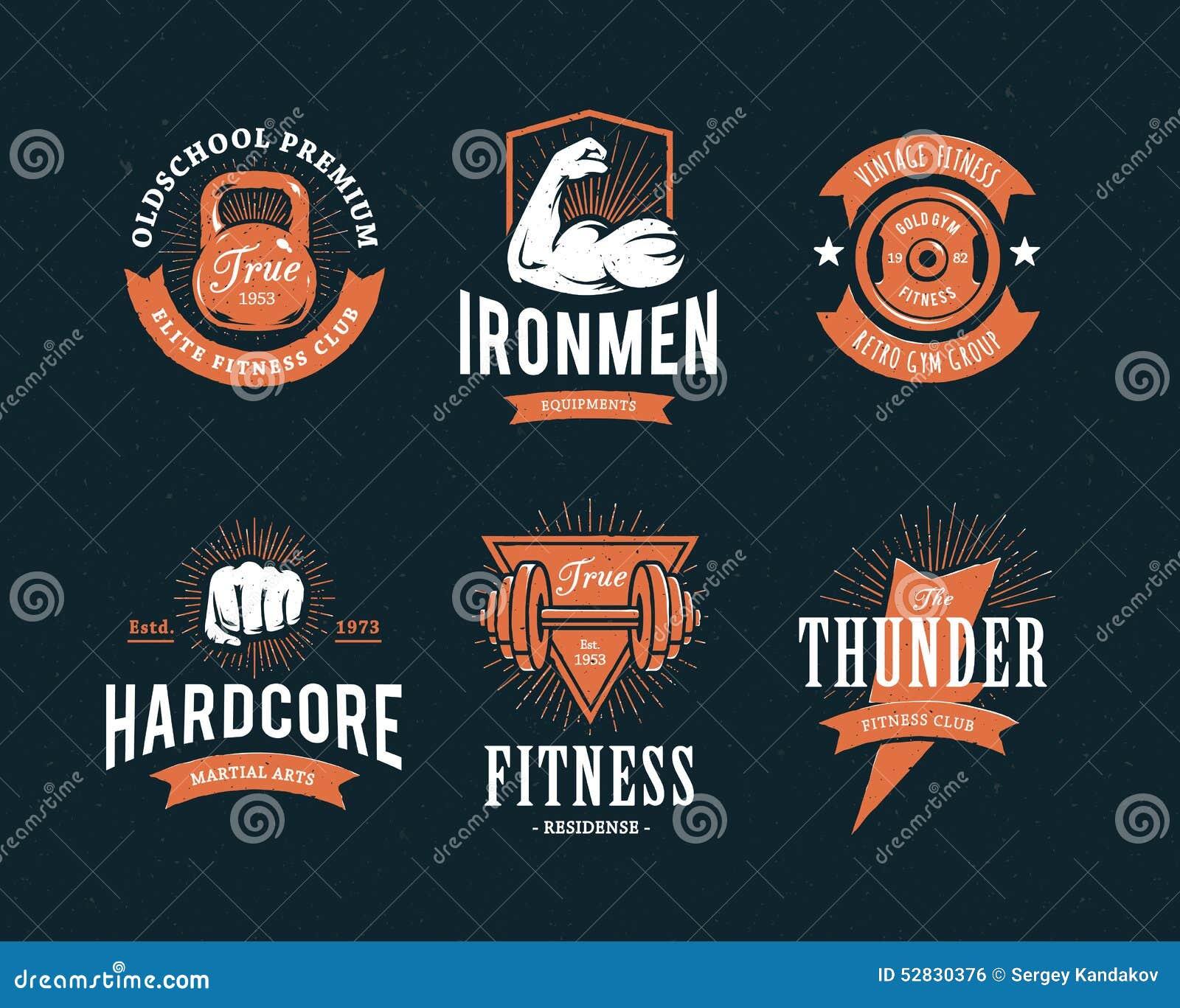 Retro emblemi di forma fisica