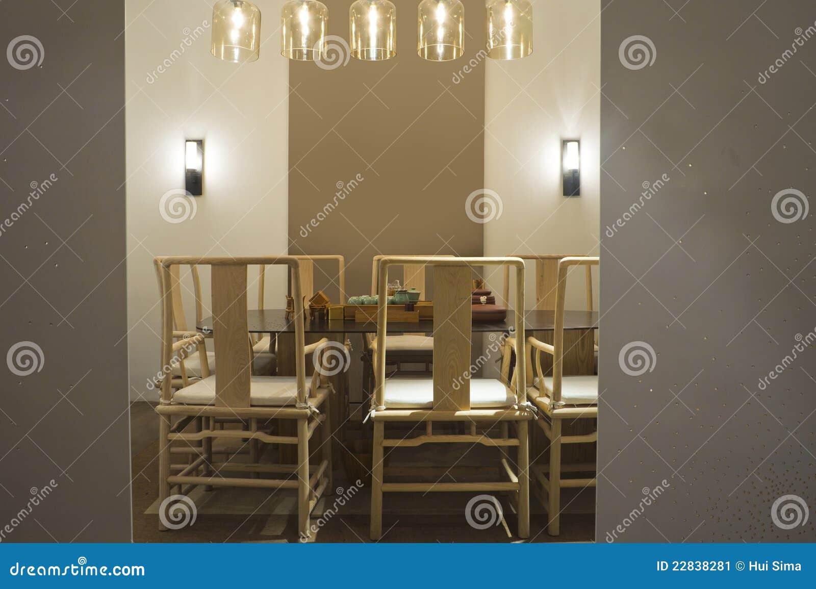 Retro Esszimmer Stockbild Bild Von Tabelle Zeitgenossisch 22838281