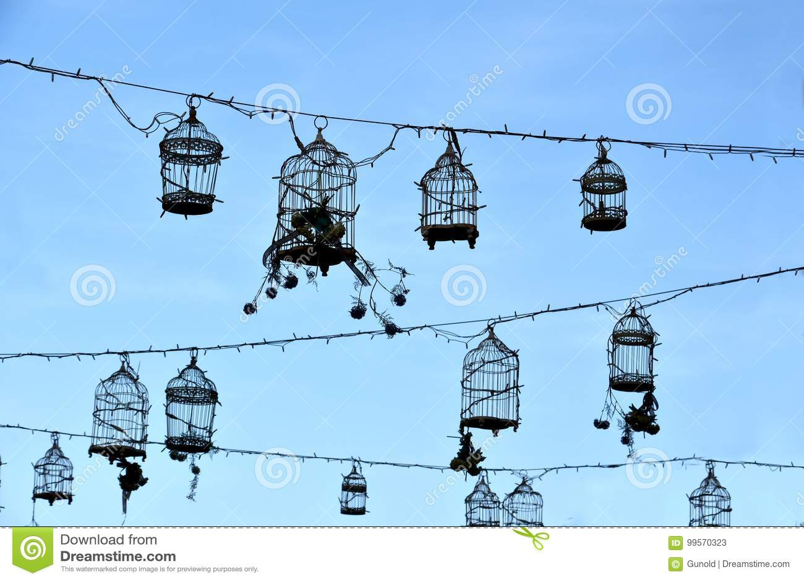 Retro fågelburar, garnering