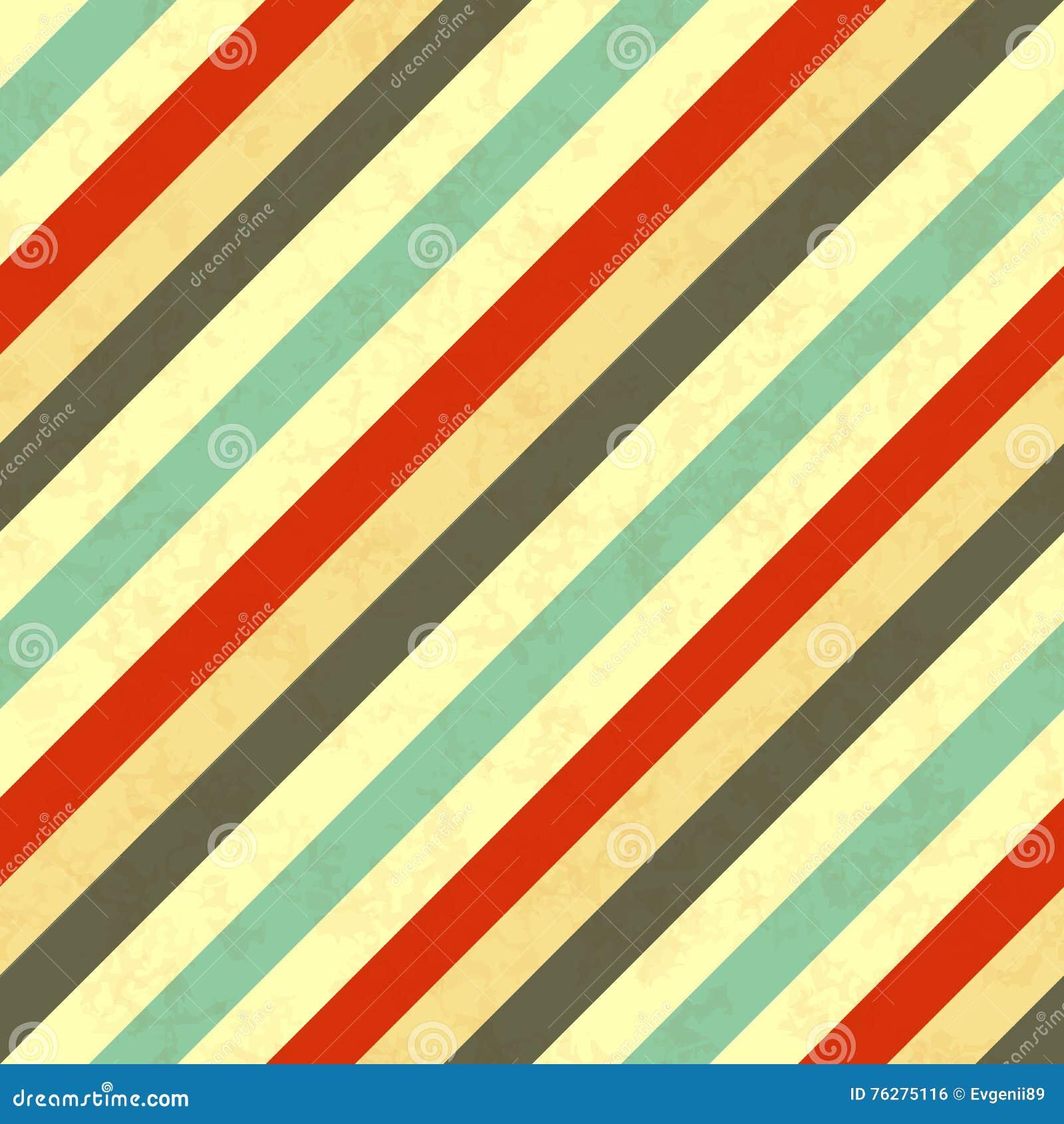 Retro Farben Der Schrägstreifen Nahtloses Muster Vektor Abbildung