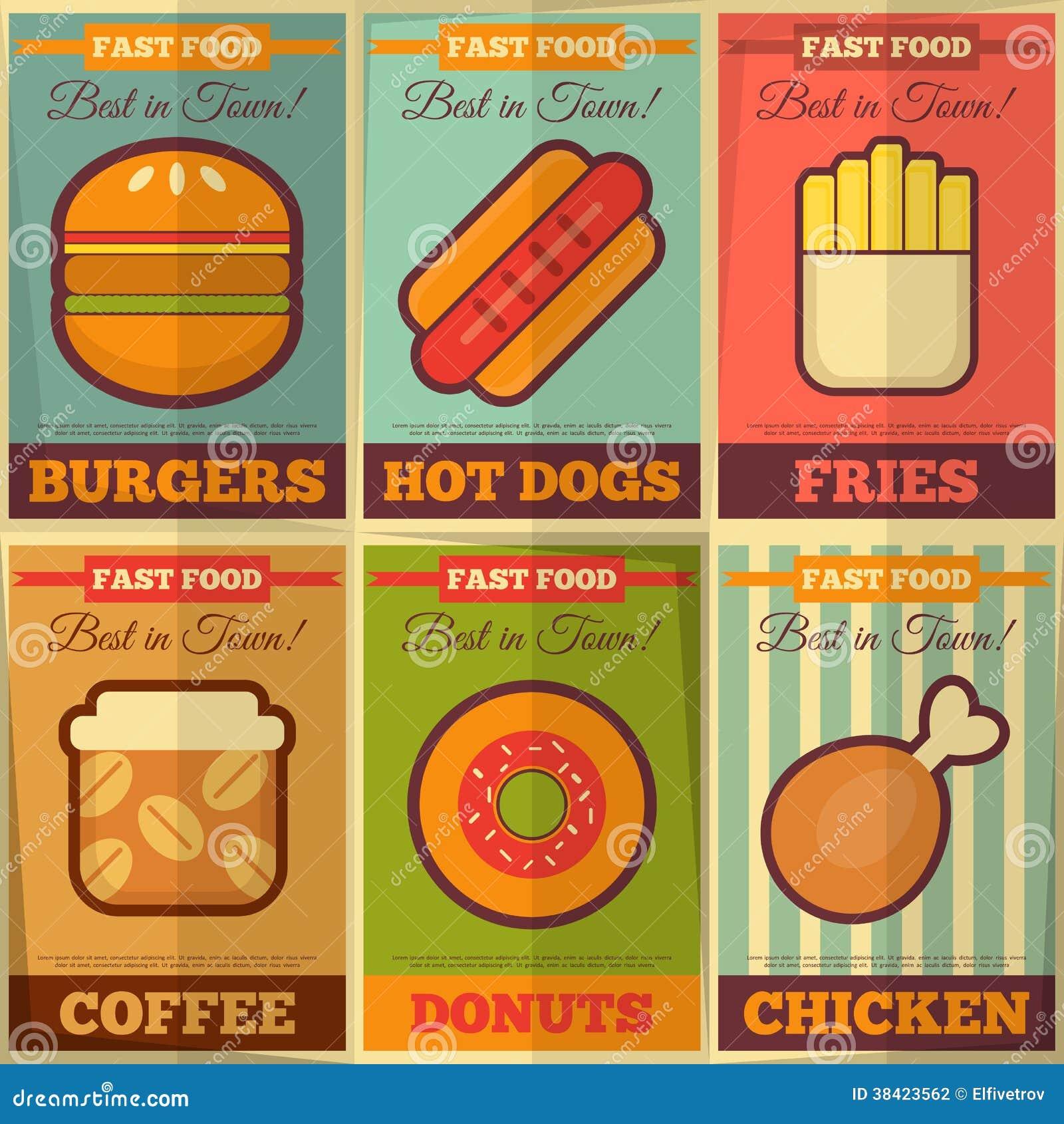 American Retro Fast Food
