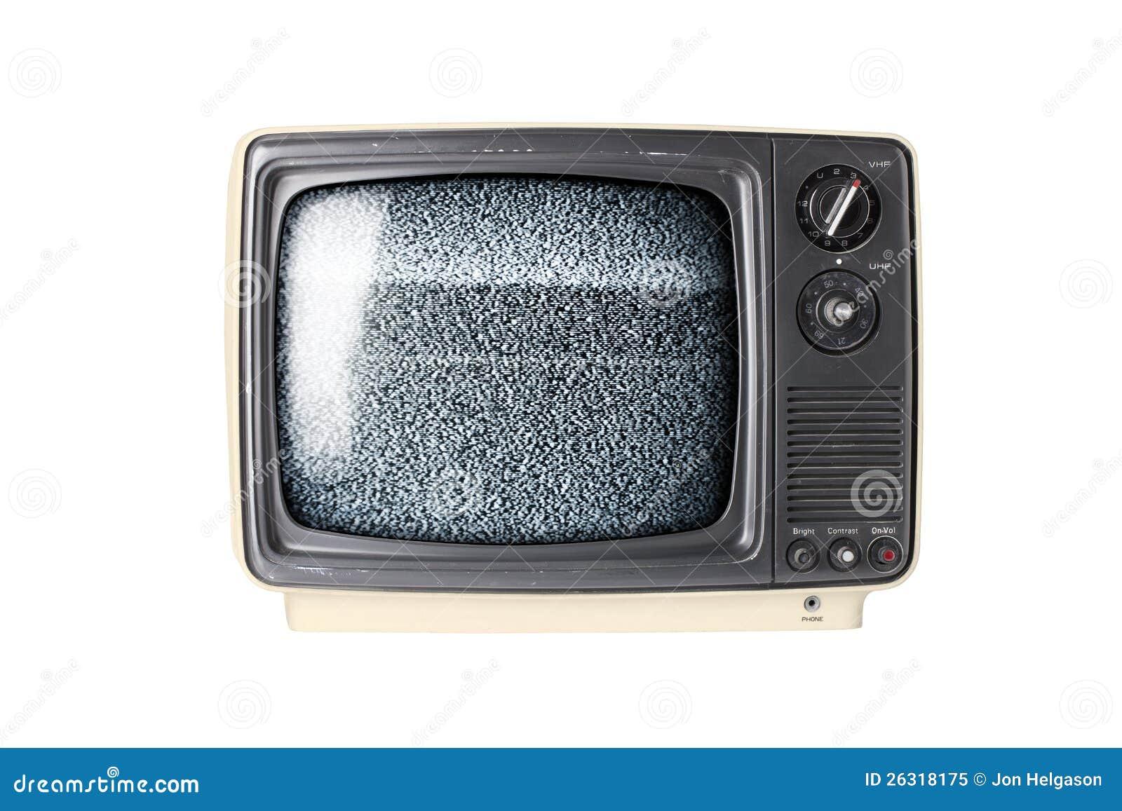 Retro- Fernseher mit Static