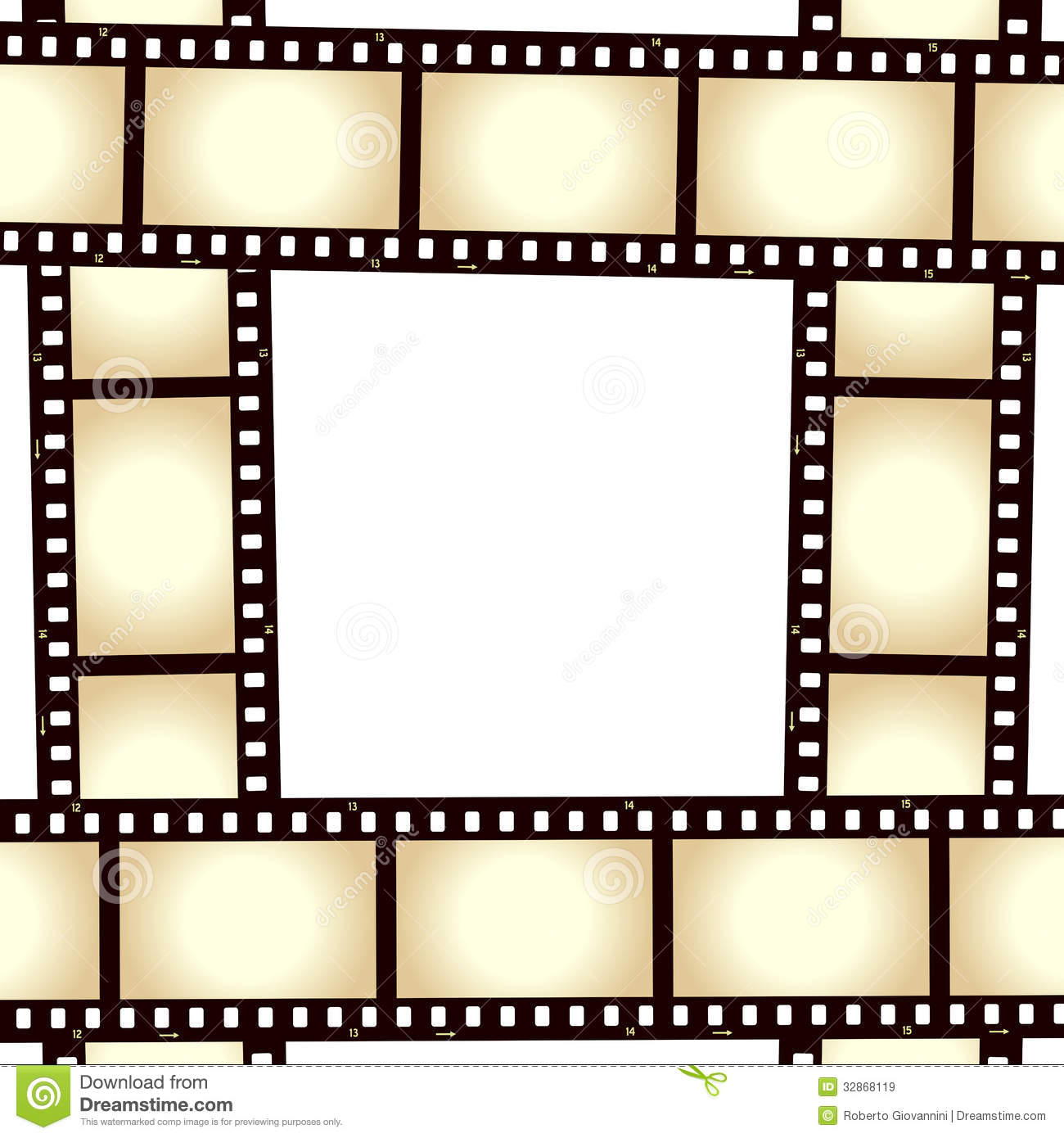 Film strip frame stock vector. Illustration of analogue - 811619