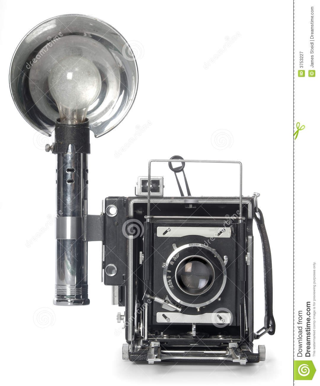 Retro Flash Camera Front View Royalty Free Stock