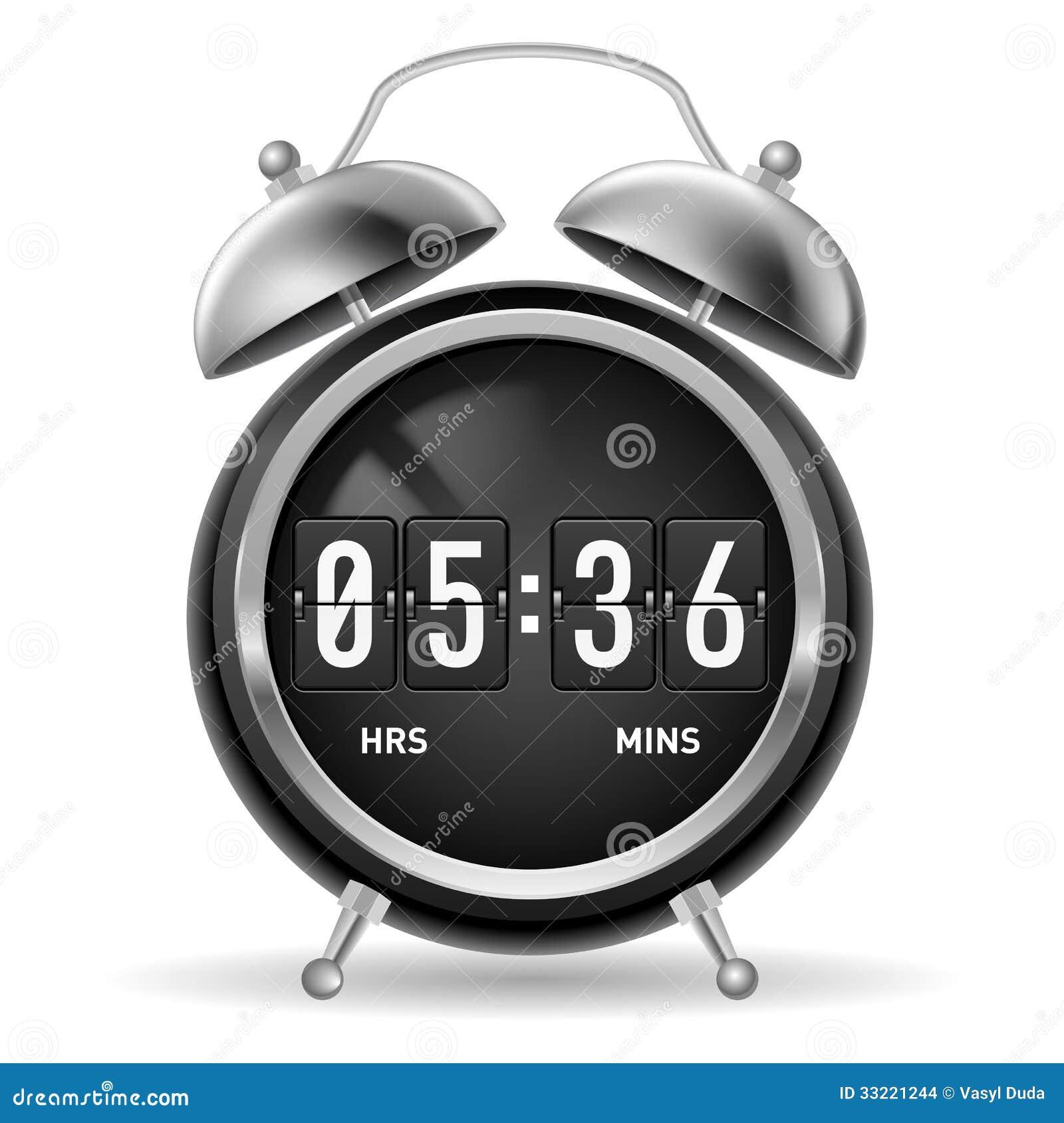 retro flip alarm clock stock illustration image of design 33221244. Black Bedroom Furniture Sets. Home Design Ideas