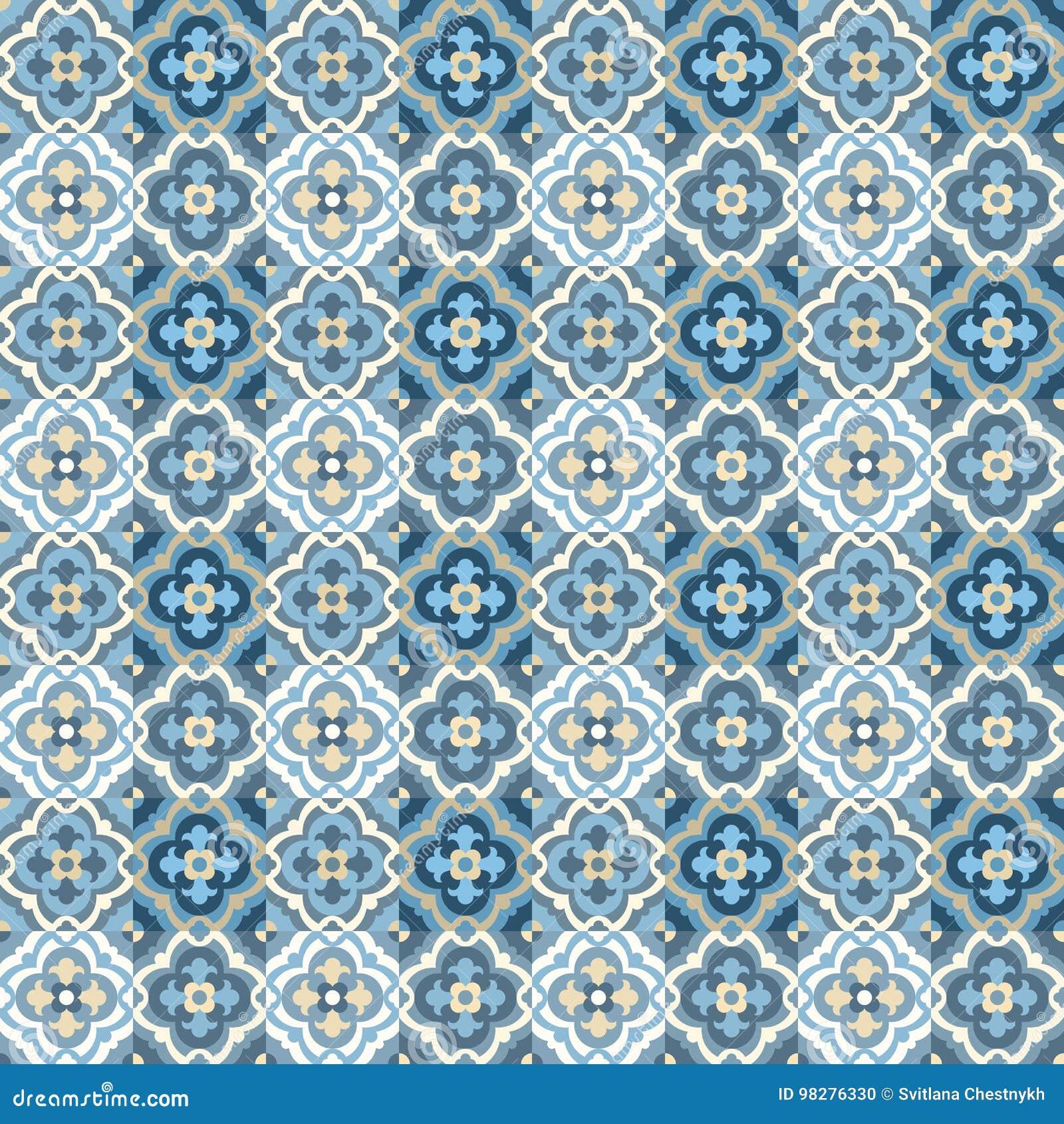 Retro Floor Tiles pattern stock vector. Illustration of moroccan ...