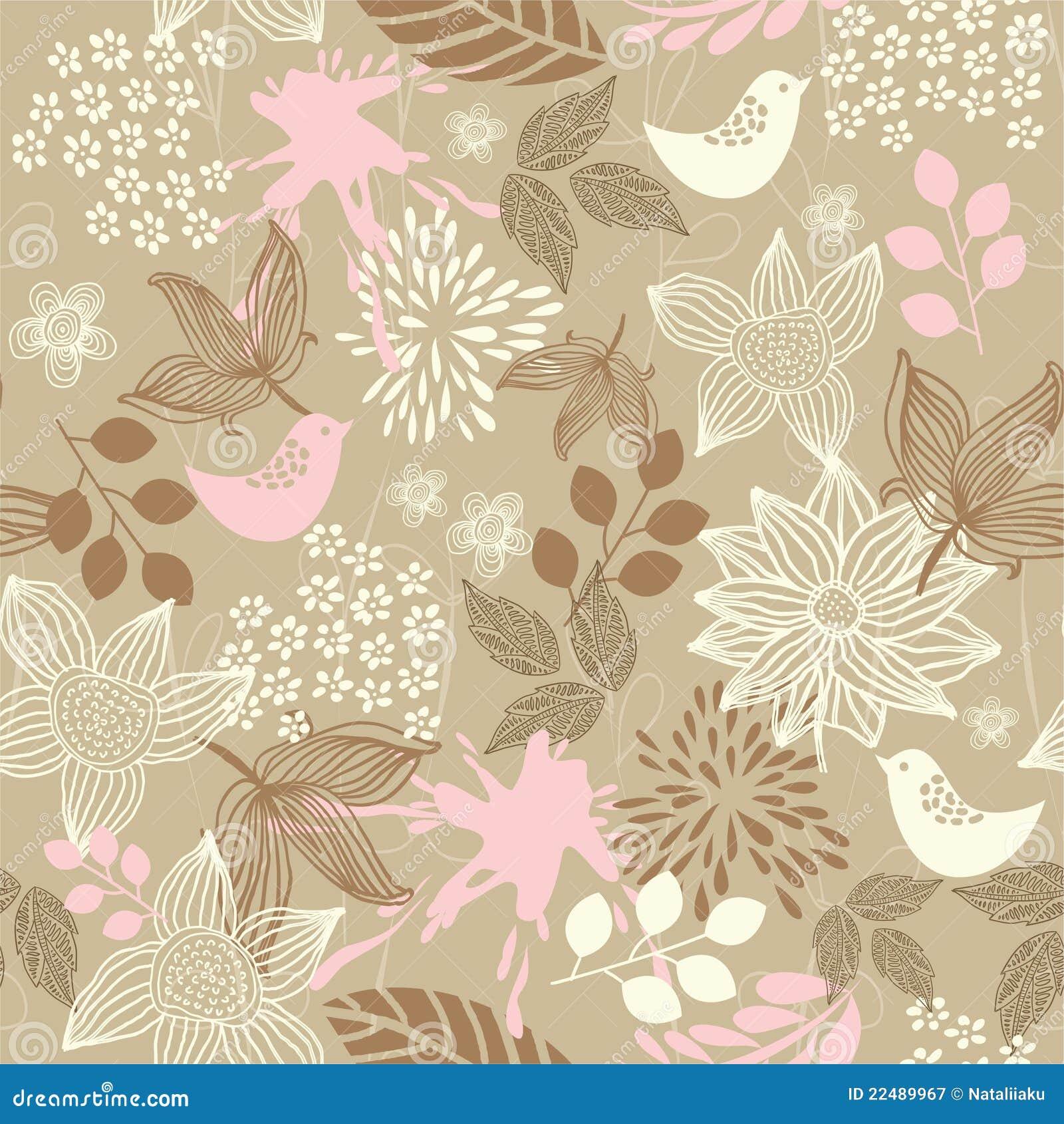 Retro Floral Seamless ...