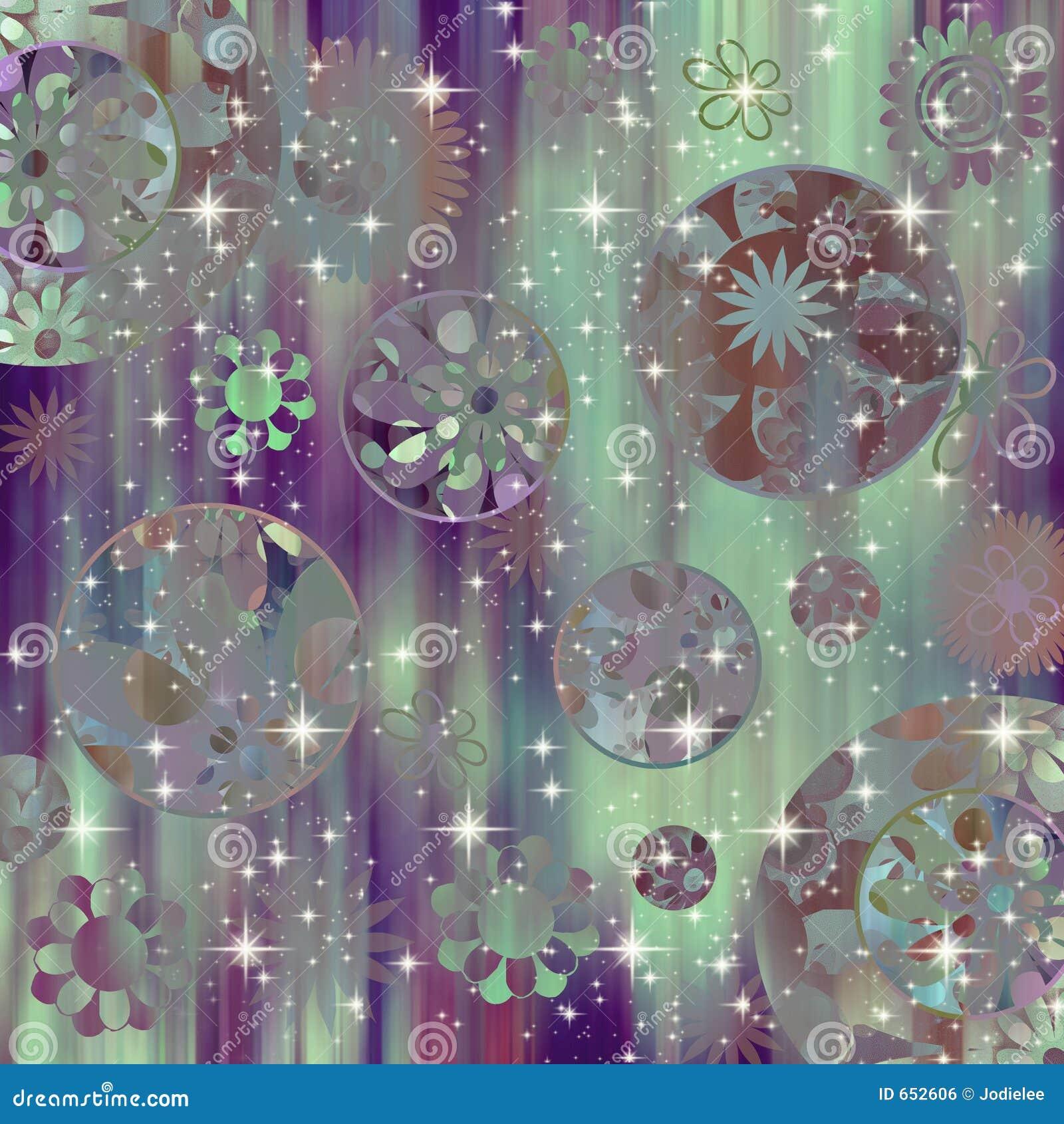 Retro Flower Scrapbook Background Stock Illustration