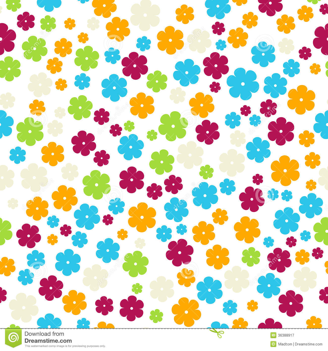 The Retro Flowers Background Royalty Free Stock