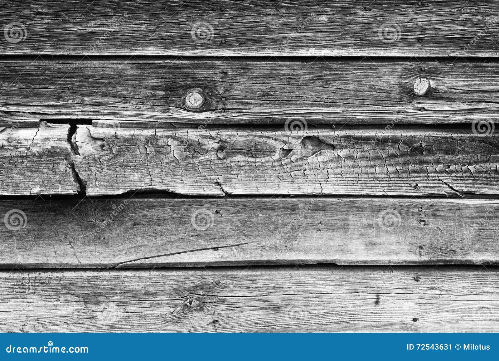 Legno Naturale Bianco : Retro fondo di legno naturale incrinato in bianco e nero