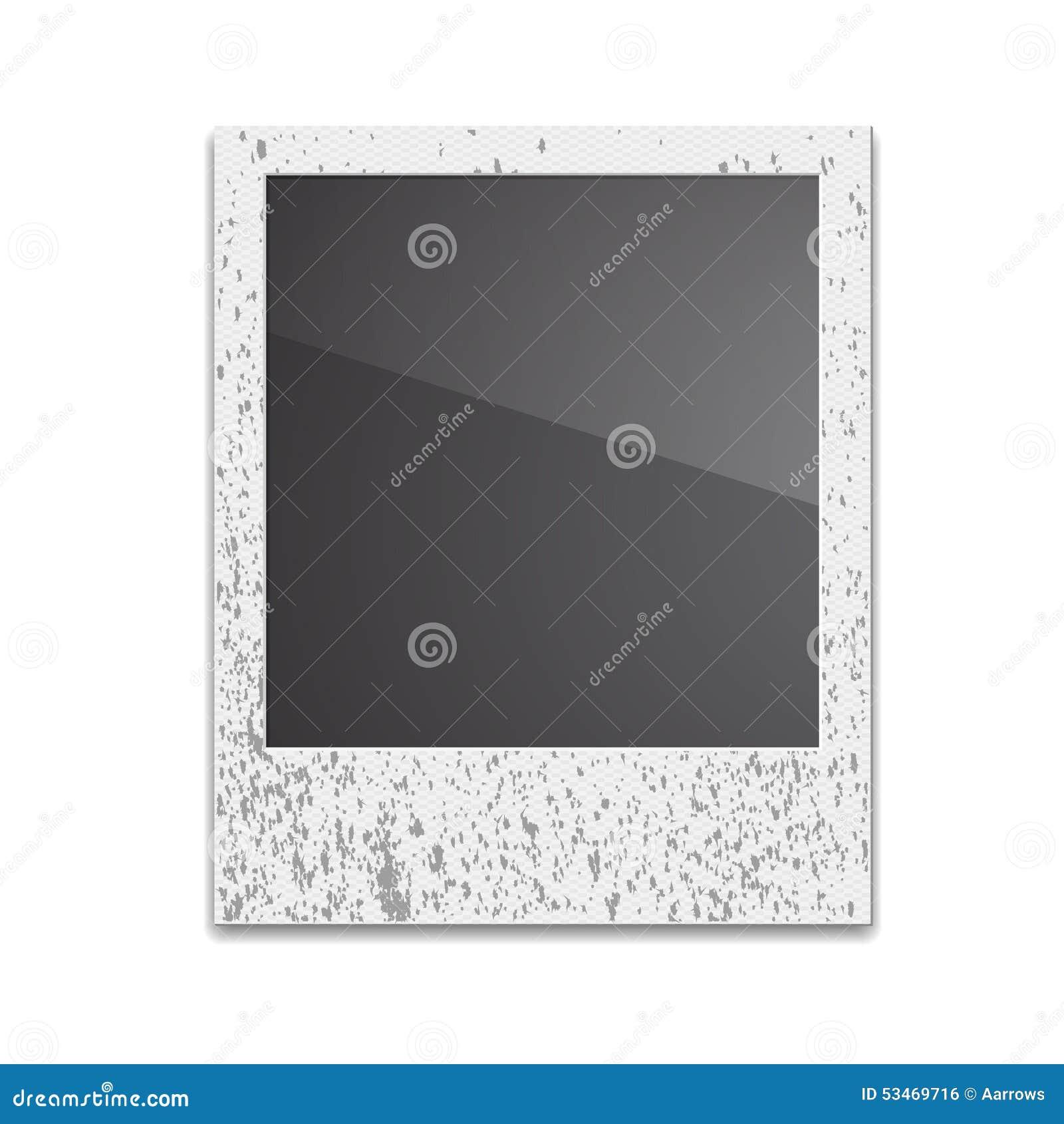 Retro- Foto-Rahmen-Polaroid Auf Weißem Hintergrund Vektor Abbildung ...