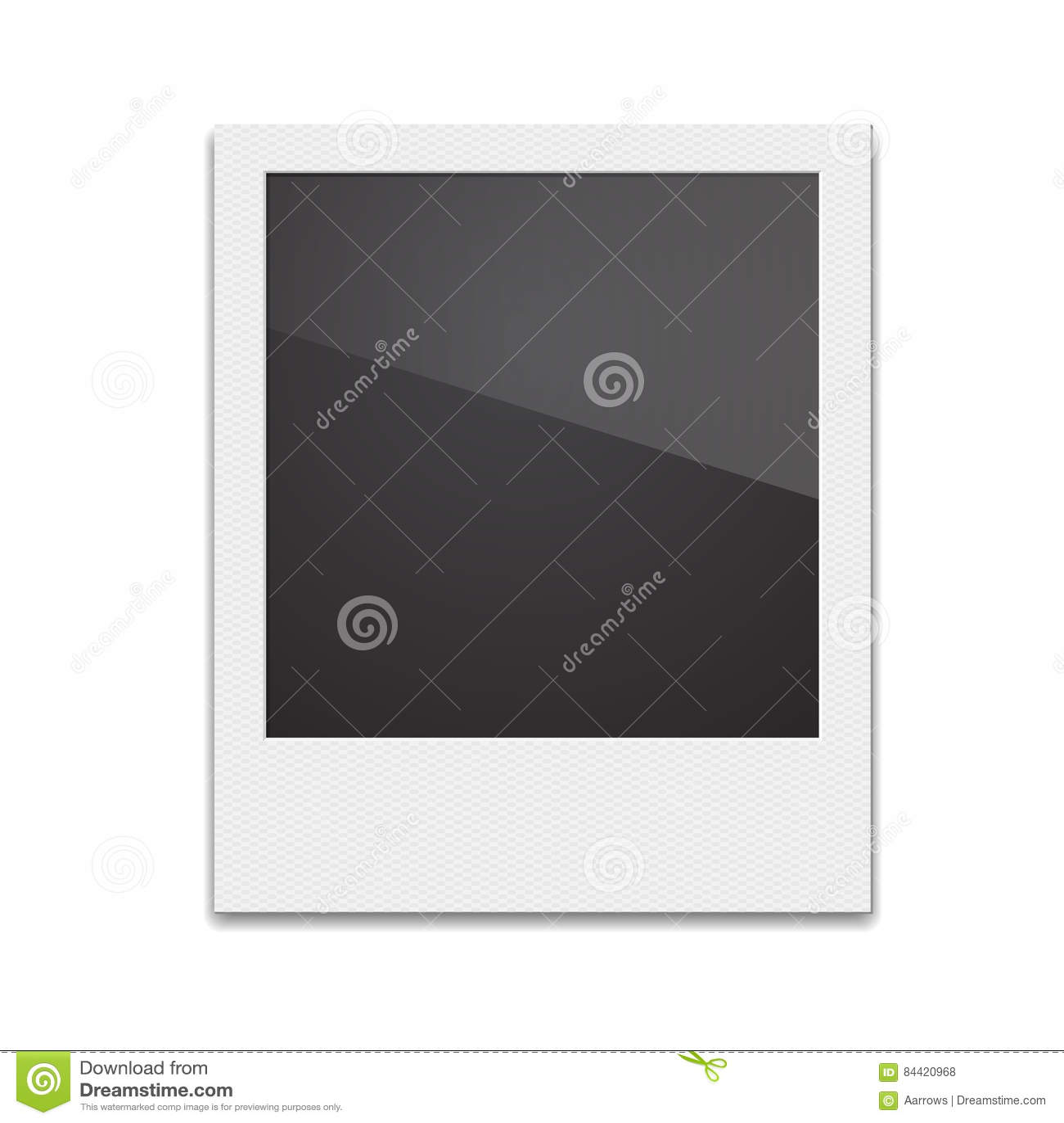 Retro- Foto-Rahmen-Polaroid Auf Weißem Hintergrund Vektor Illustra ...