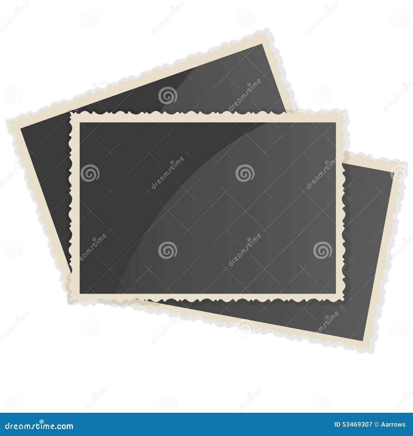 Retro- Fotorahmen Auf Weißem Hintergrund Vektor Abbildung ...