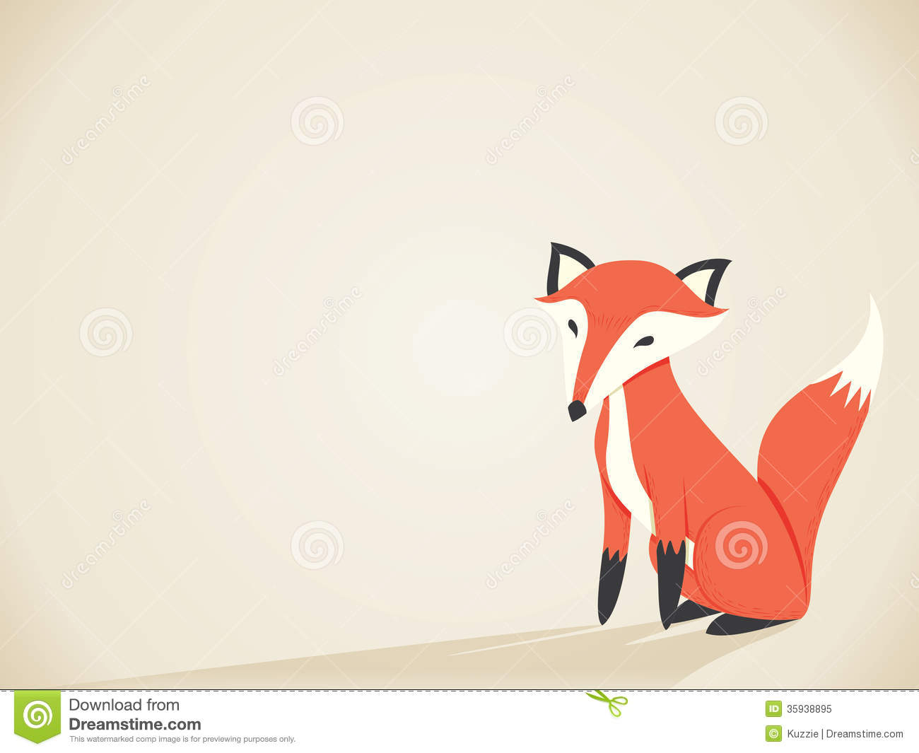 Retro Fox Royalty Free Stock Photo - Image: 35938895