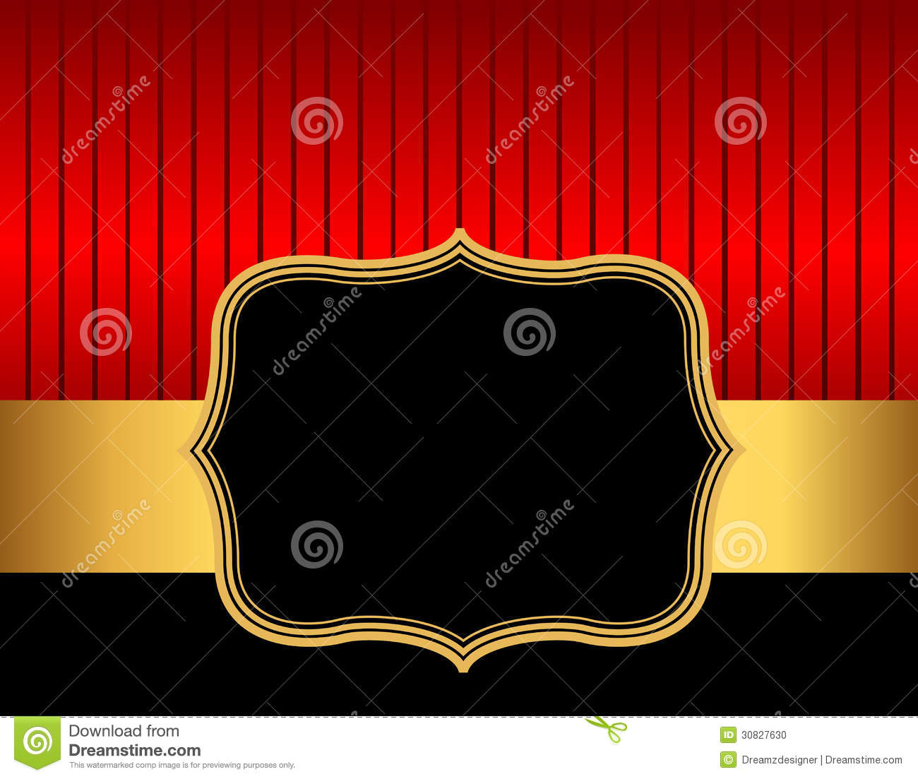 retro frame    border red and gold stock vector
