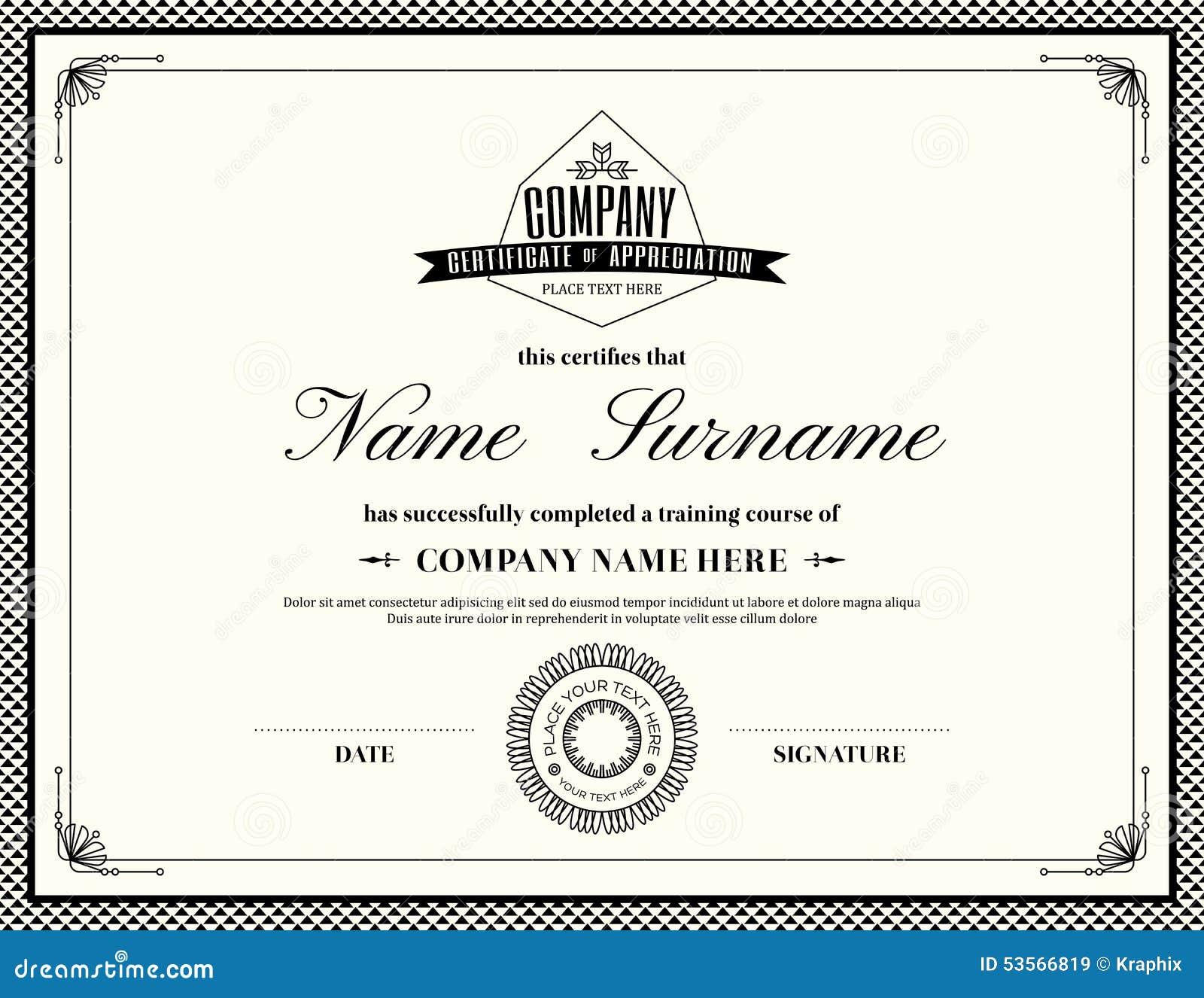 Free Certificate Of Appreciation Template Downloads Kordur