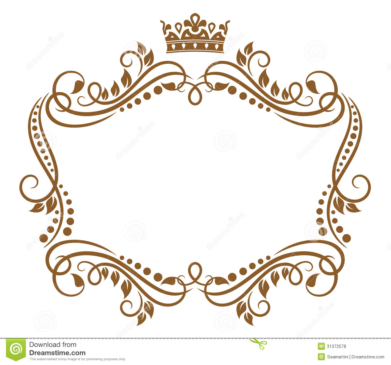 Retro Frame With Royal Crown Stock Vector Illustration