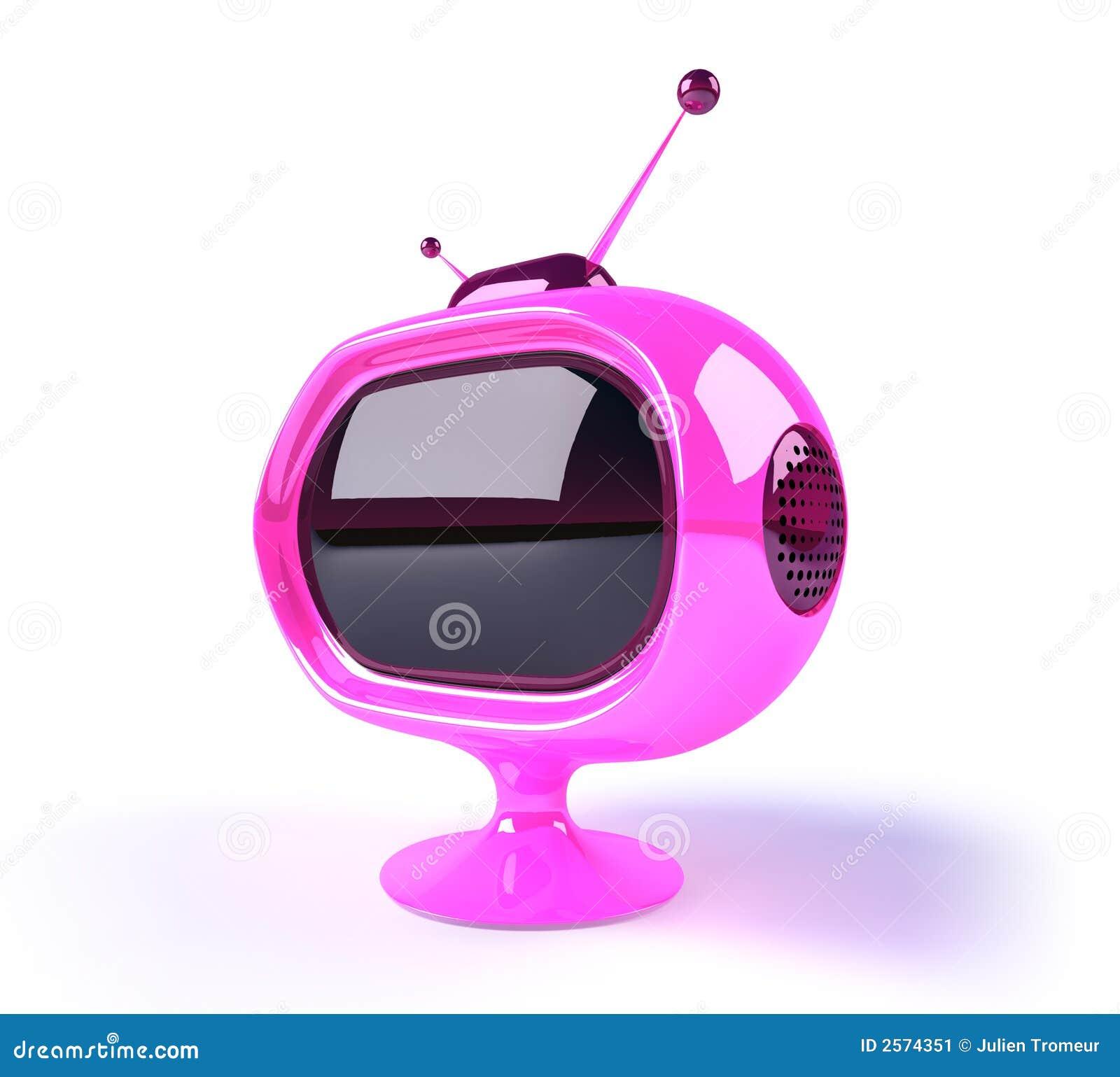 retro futuristic tv stock image