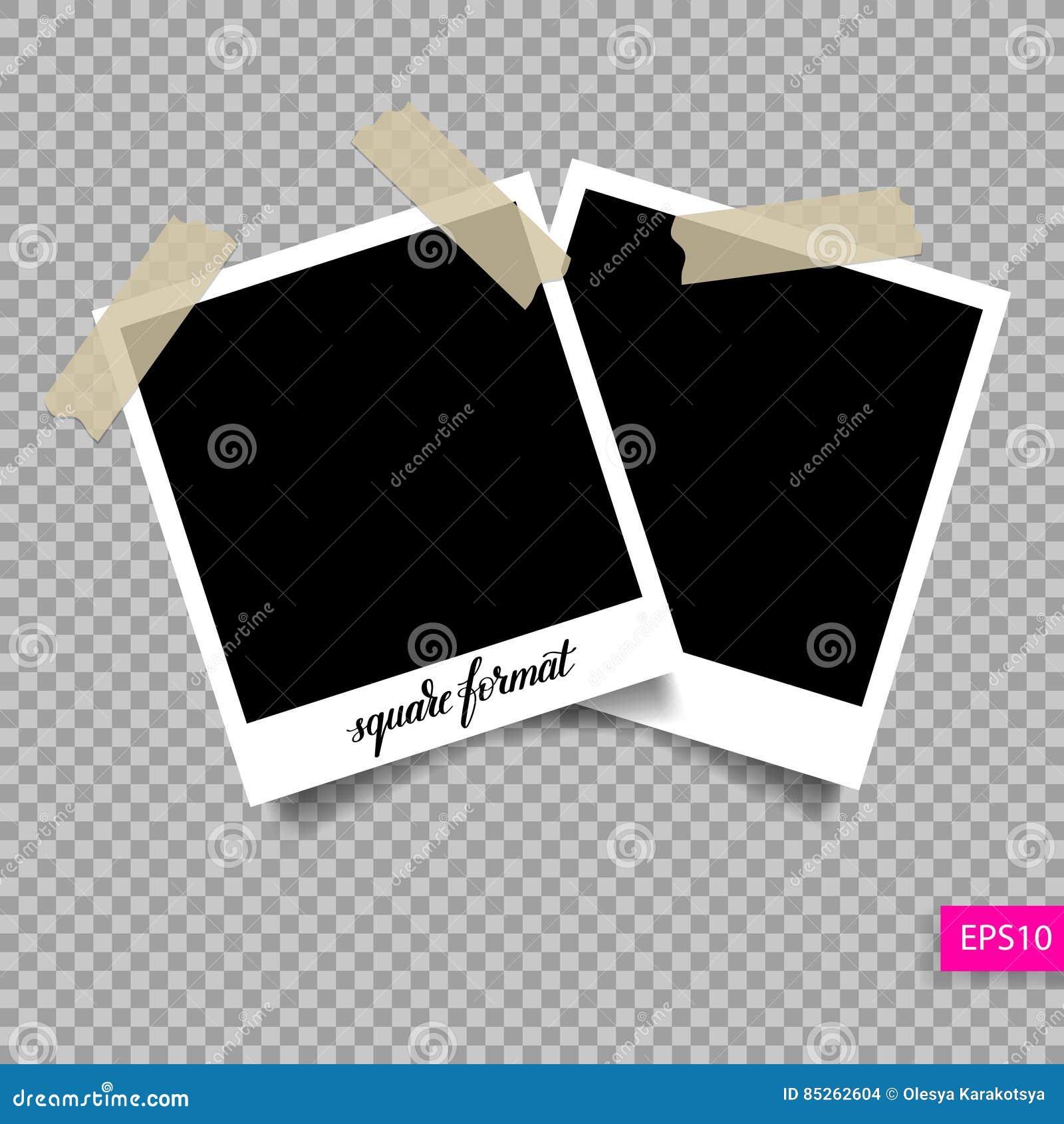 Retro fyrkantig mall för polaroidfotoram