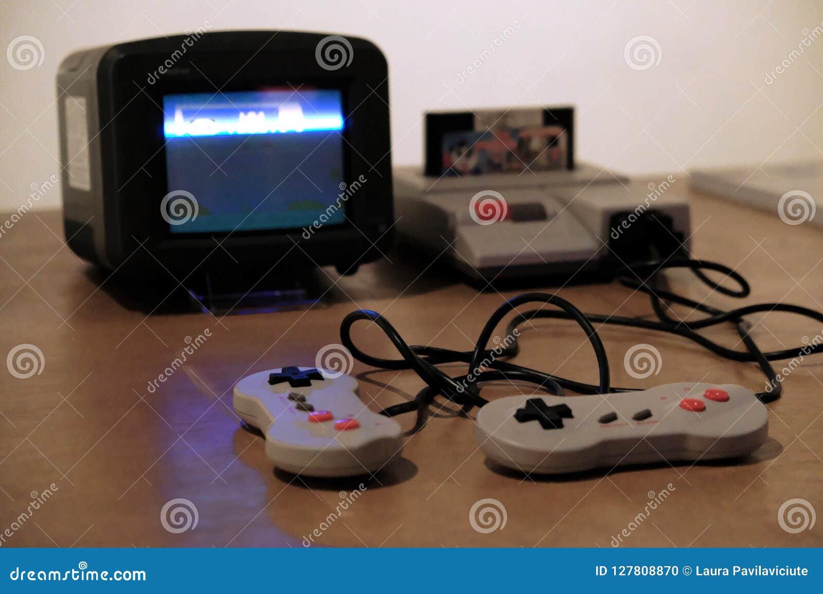 Retro games stock photo  Image of blast, cozy, home - 127808870