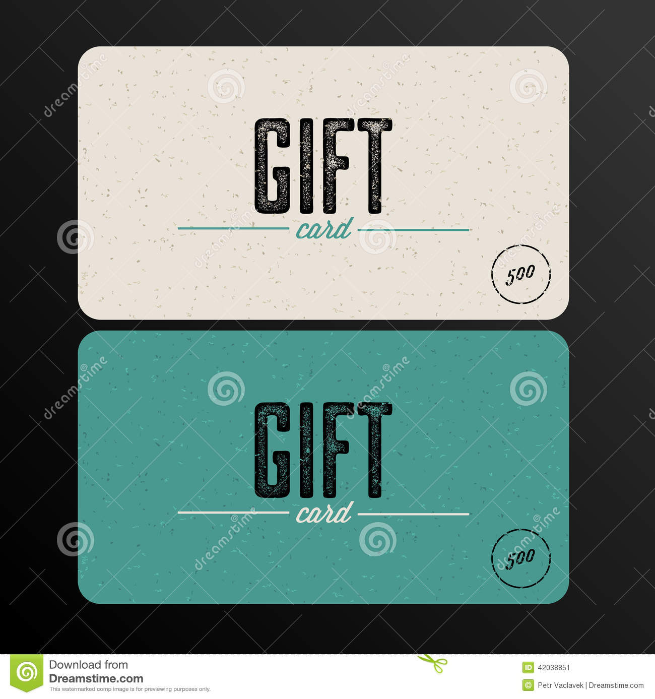 Retro gift card teal template stock illustration illustration of retro gift card teal template yadclub Image collections