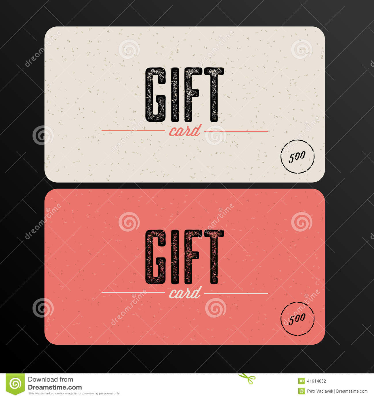 Retro Gift Card Template Stock Vector. Illustration Of Digital   41614652