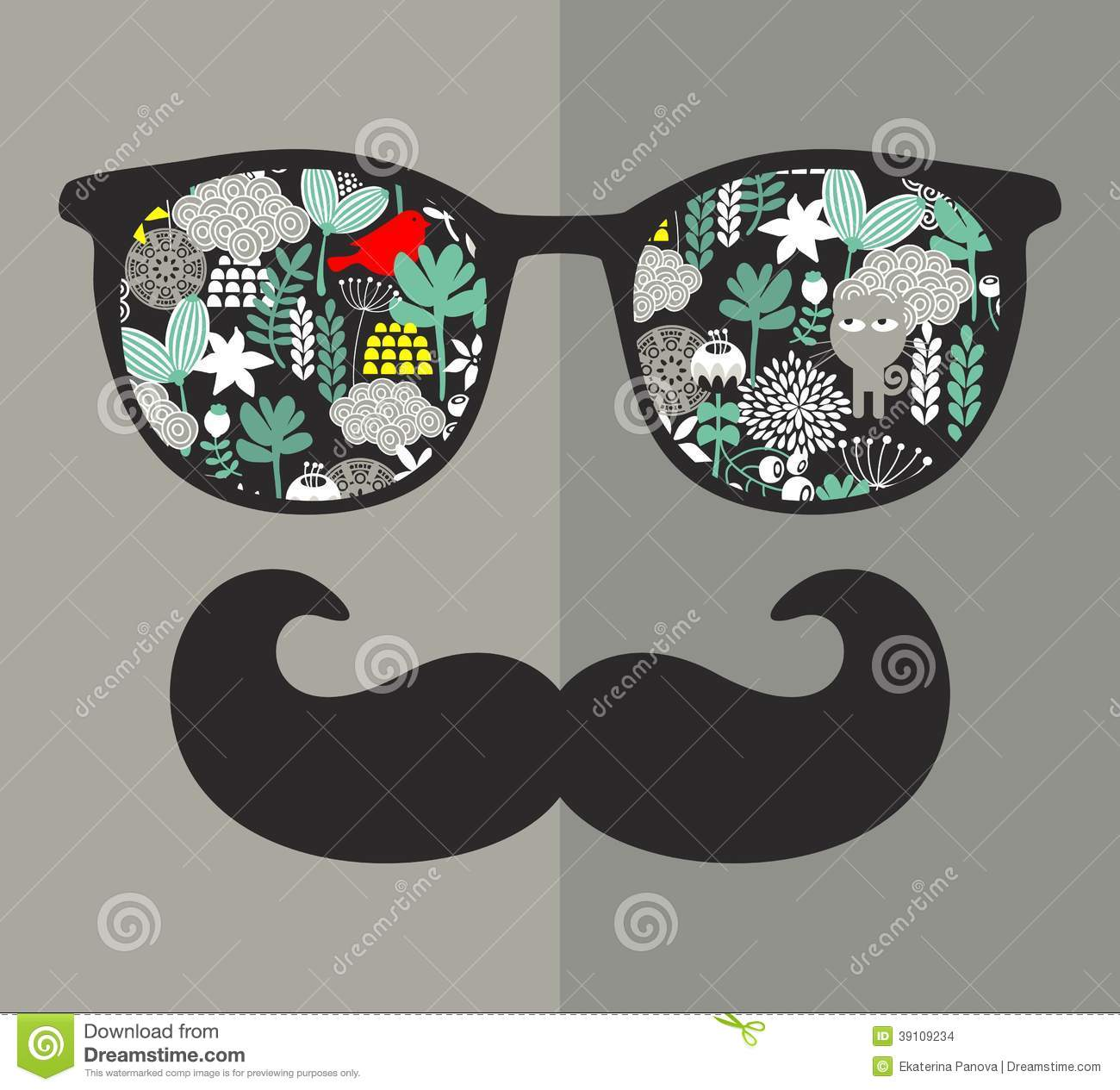 -glasses-reflection-hipster-vector-illustration-accessory-eyeglasses ...