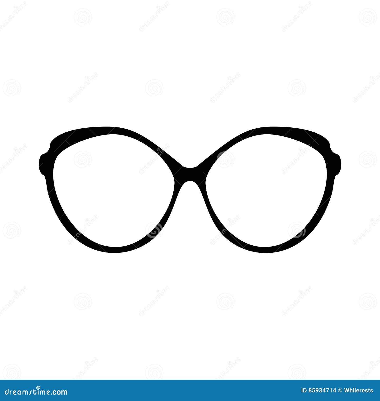 Retro Glasses. Sunglasses Black Silhouettes. Eye Glasses ...