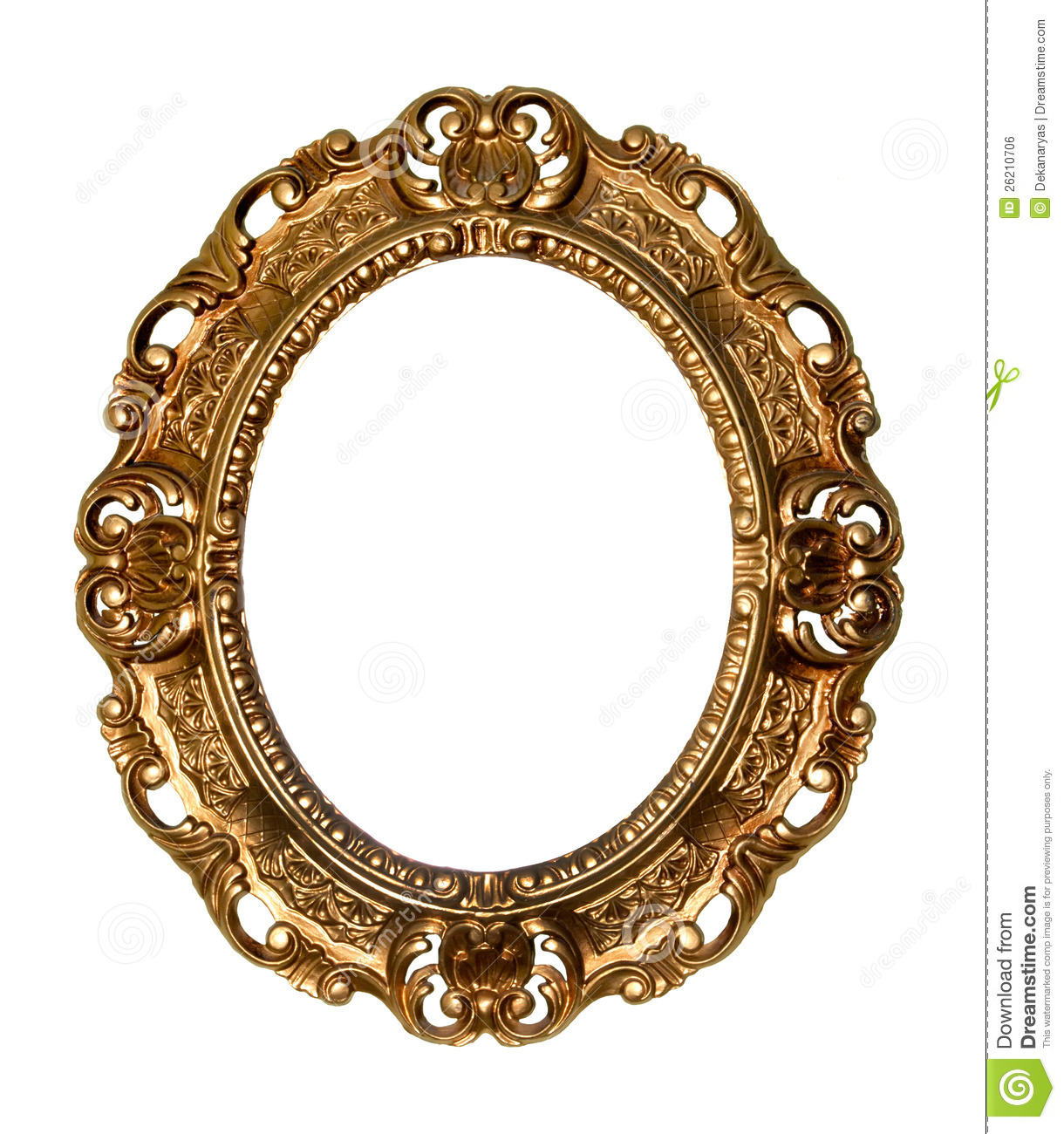retro gold frame oval