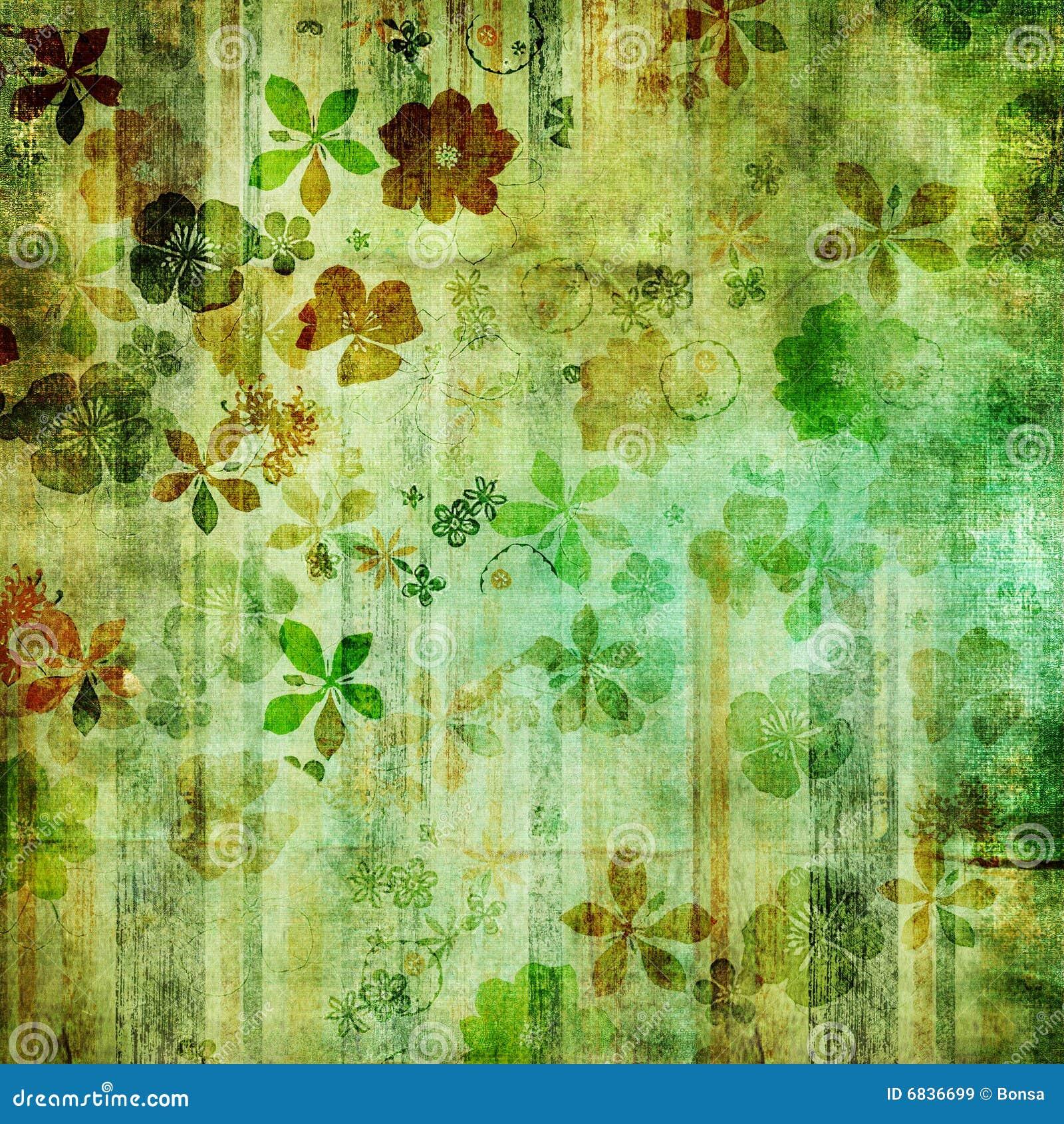 Retro- grüne Tapete