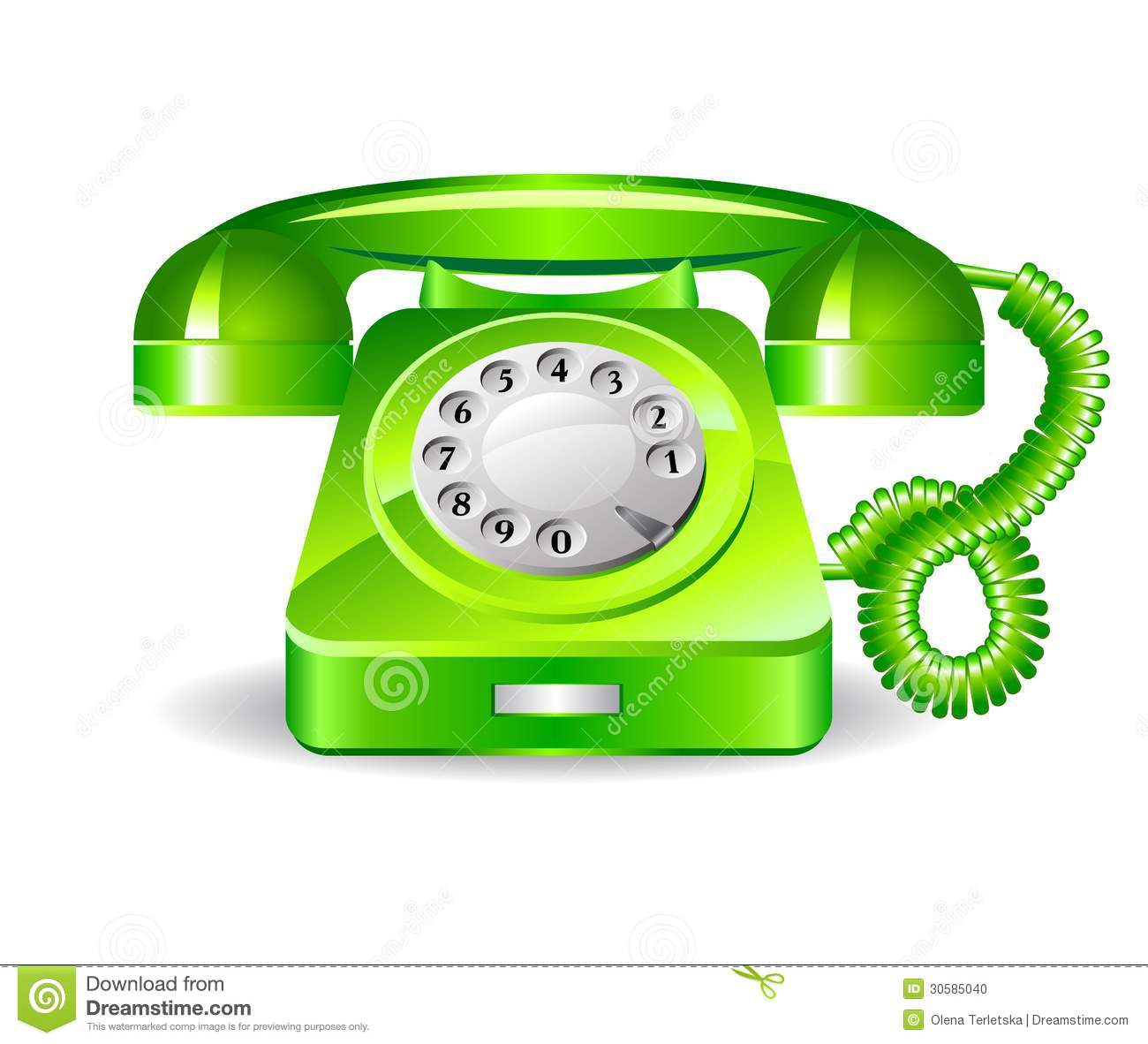 retro green telephone stock photo image 30585040. Black Bedroom Furniture Sets. Home Design Ideas