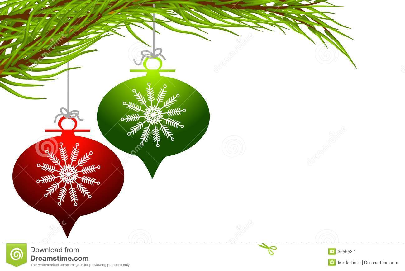 Download Retro Hanging Christmas Ornaments Stock Illustration
