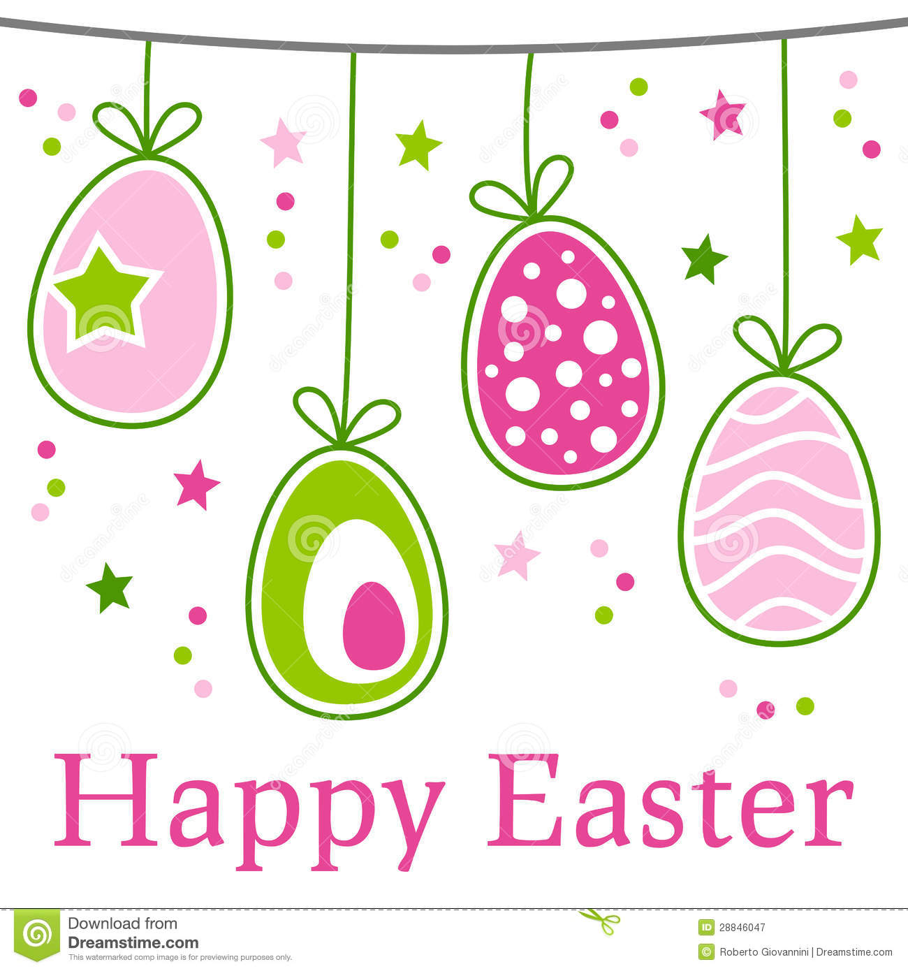 retro happy easter card stock vector image of drawing